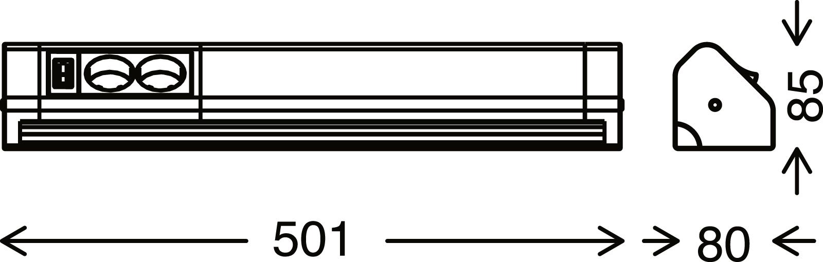 TELEFUNKEN LED Unterbauleuchte, 50,1 cm, 10 W, Weiß