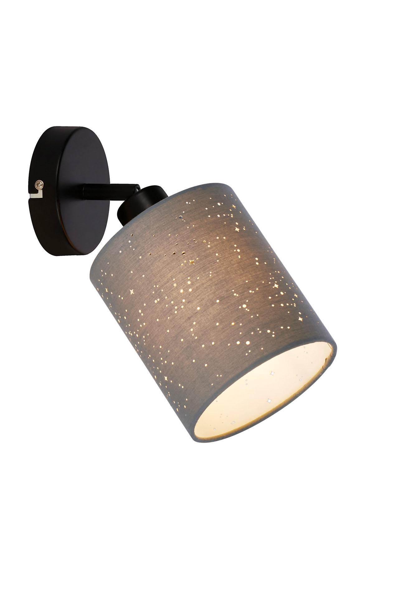 LED Spot Wandleuchte, Ø 13 cm, max. 25 W, Grau-Schwarz