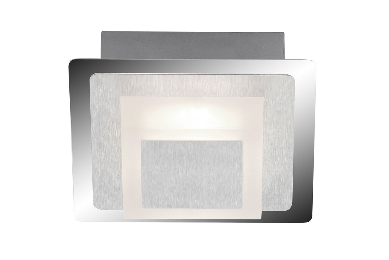 LED Deckenleuchte, 12 cm, 5 W, Alu-Chrom