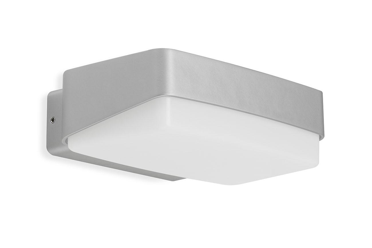 TELEFUNKEN LED Aussenwandleuchte, 18,2 cm, 14 W, Silber