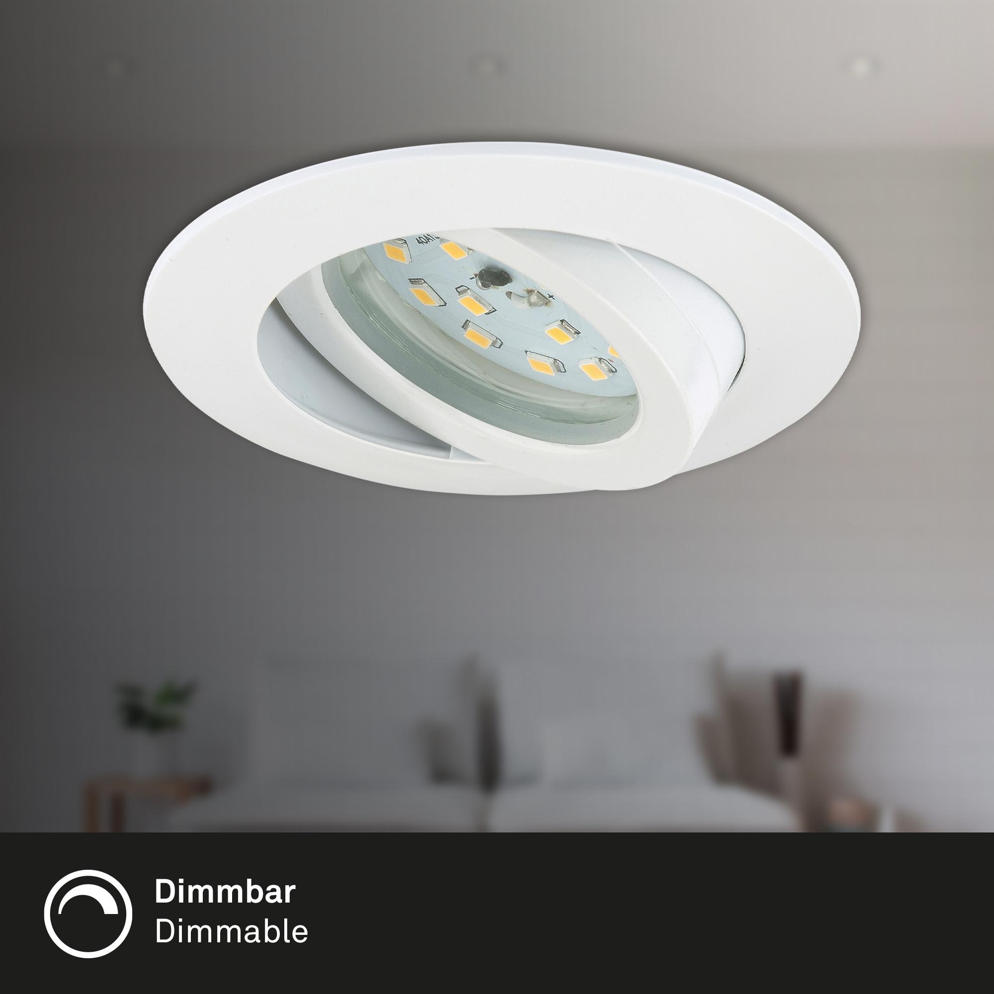 LED Einbauleuchte, Ø 8,2 cm, 5,5 W, Weiß