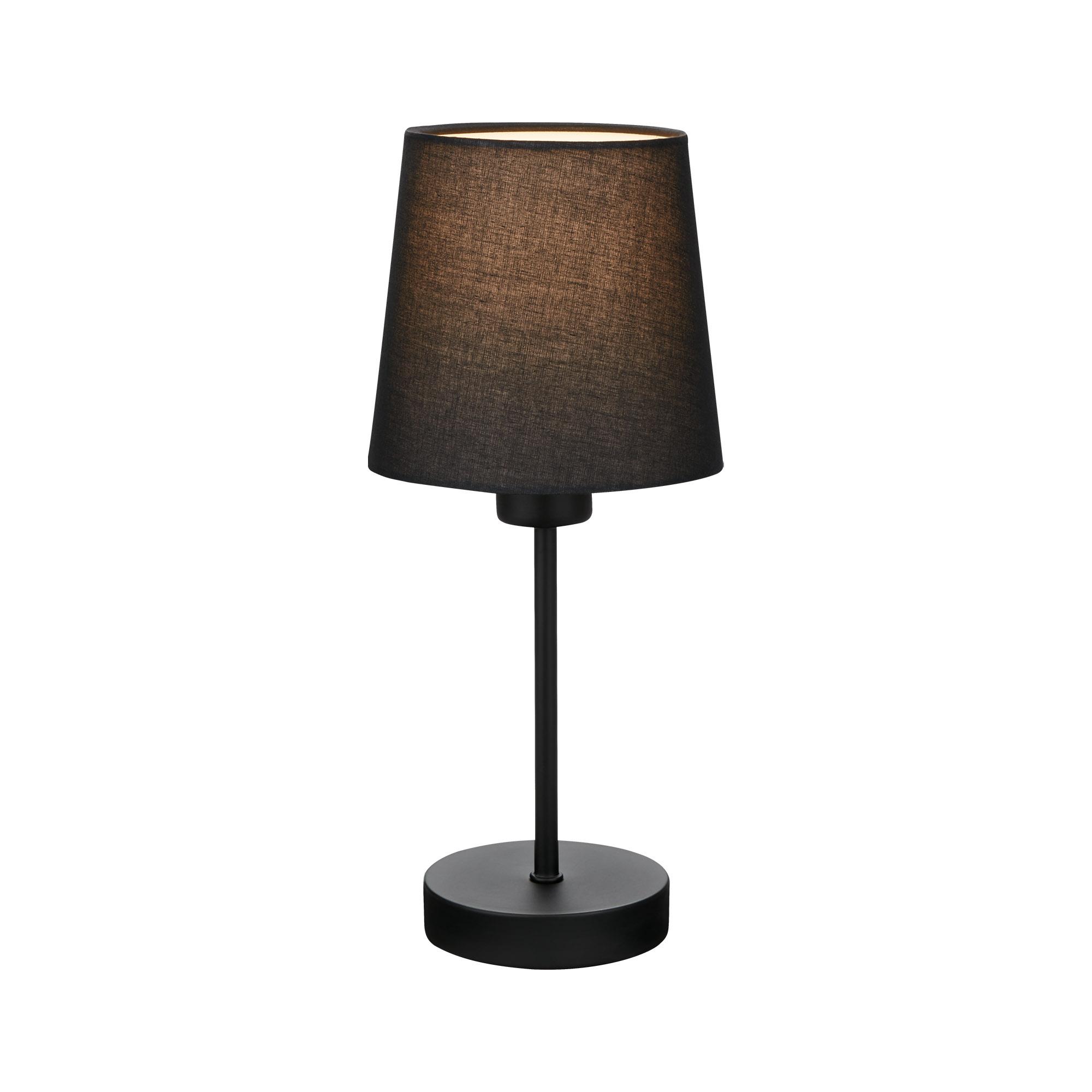 Tischleuchte, 31,4 cm, max. 25 W, Schwarz