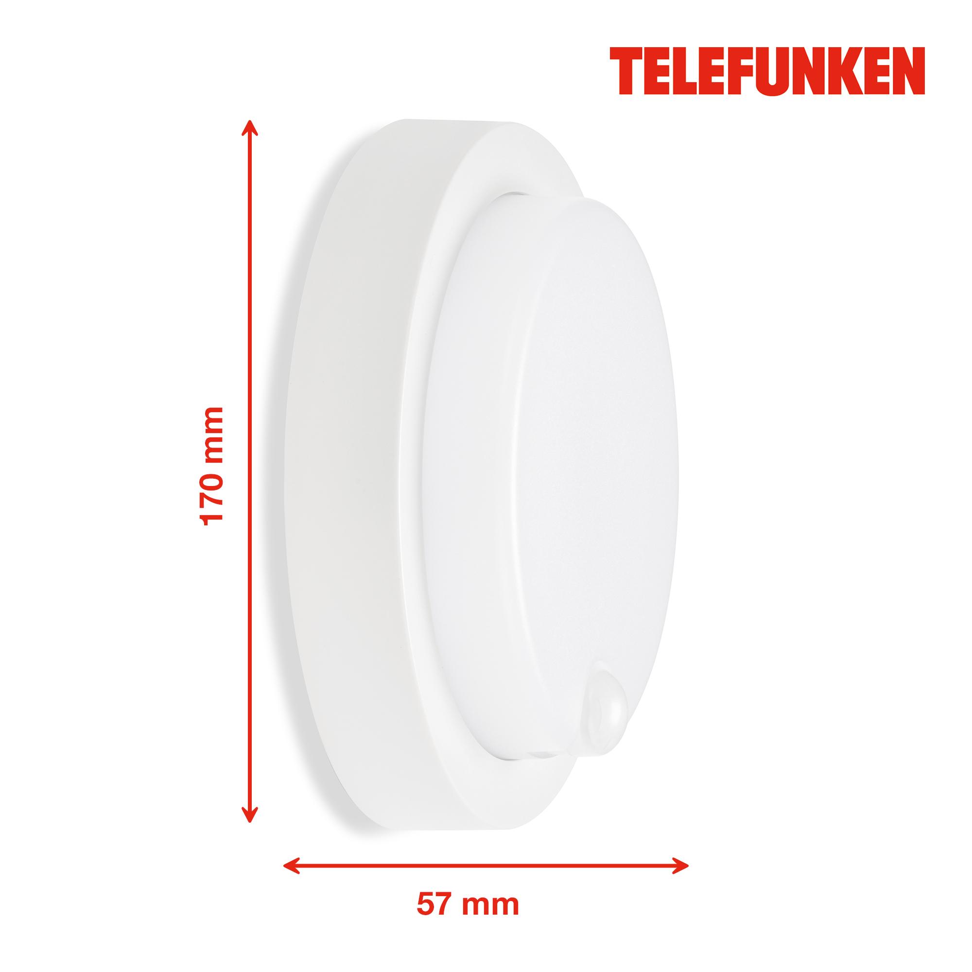 TELEFUNKEN LED Sensor Außenwandleuchte Weiß
