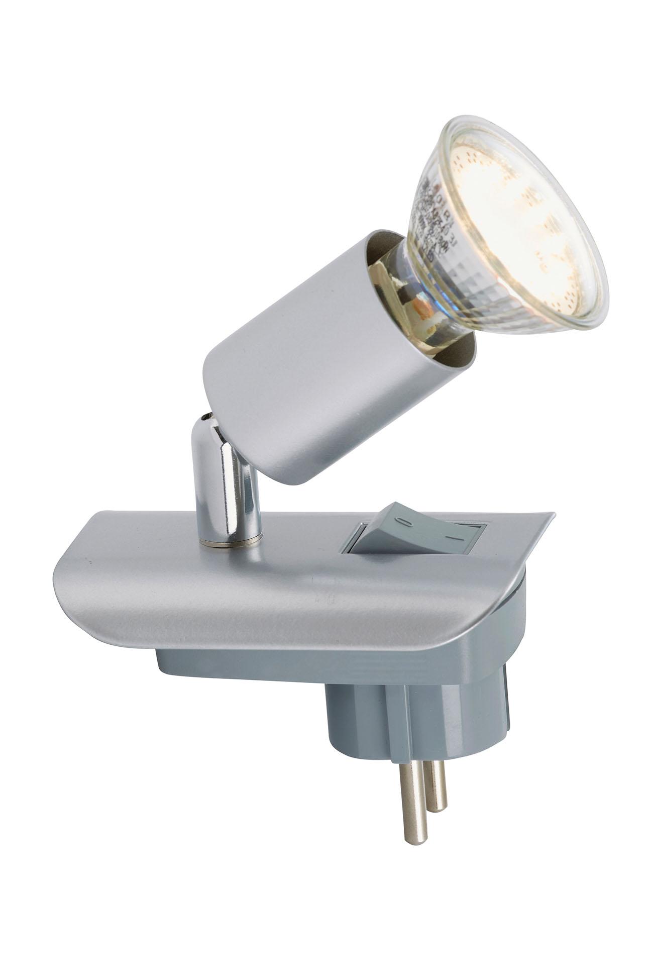 LED Steckerleuchte, 10 cm, 3 W, Silber
