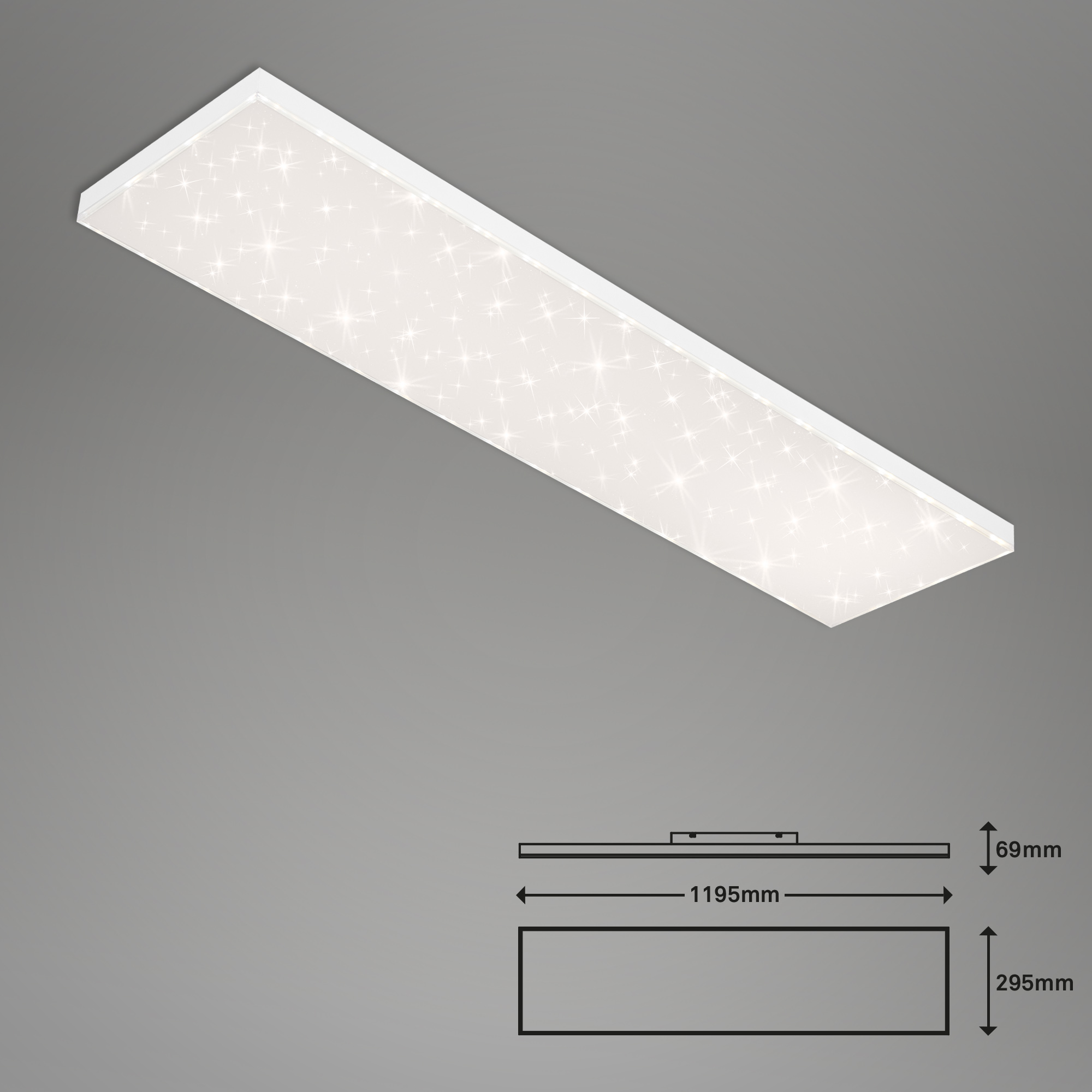 CCT LED Panel, 119,5 cm, 38 W, Weiss