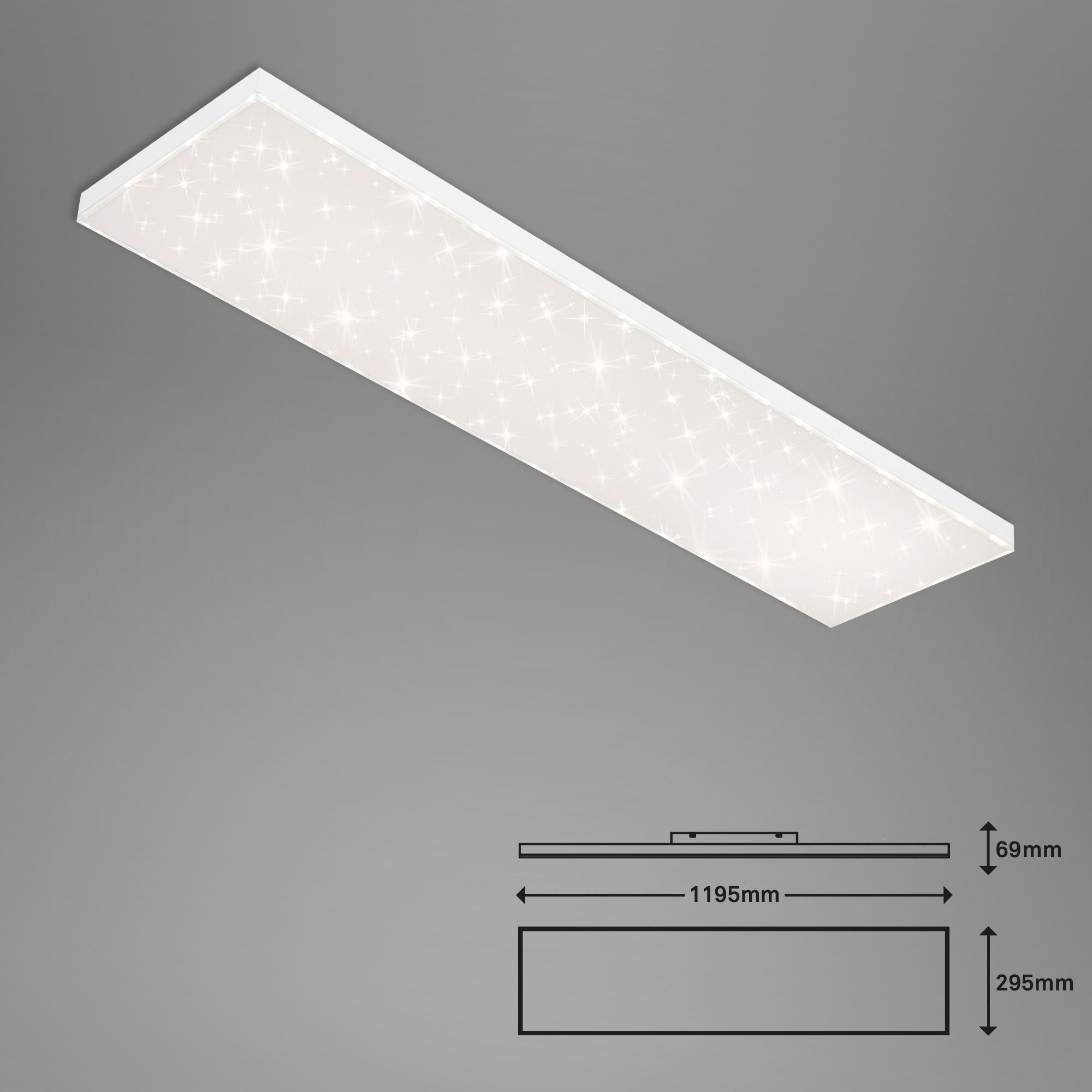 CCT LED Panel, 119,5 cm, 38 W, Weiß