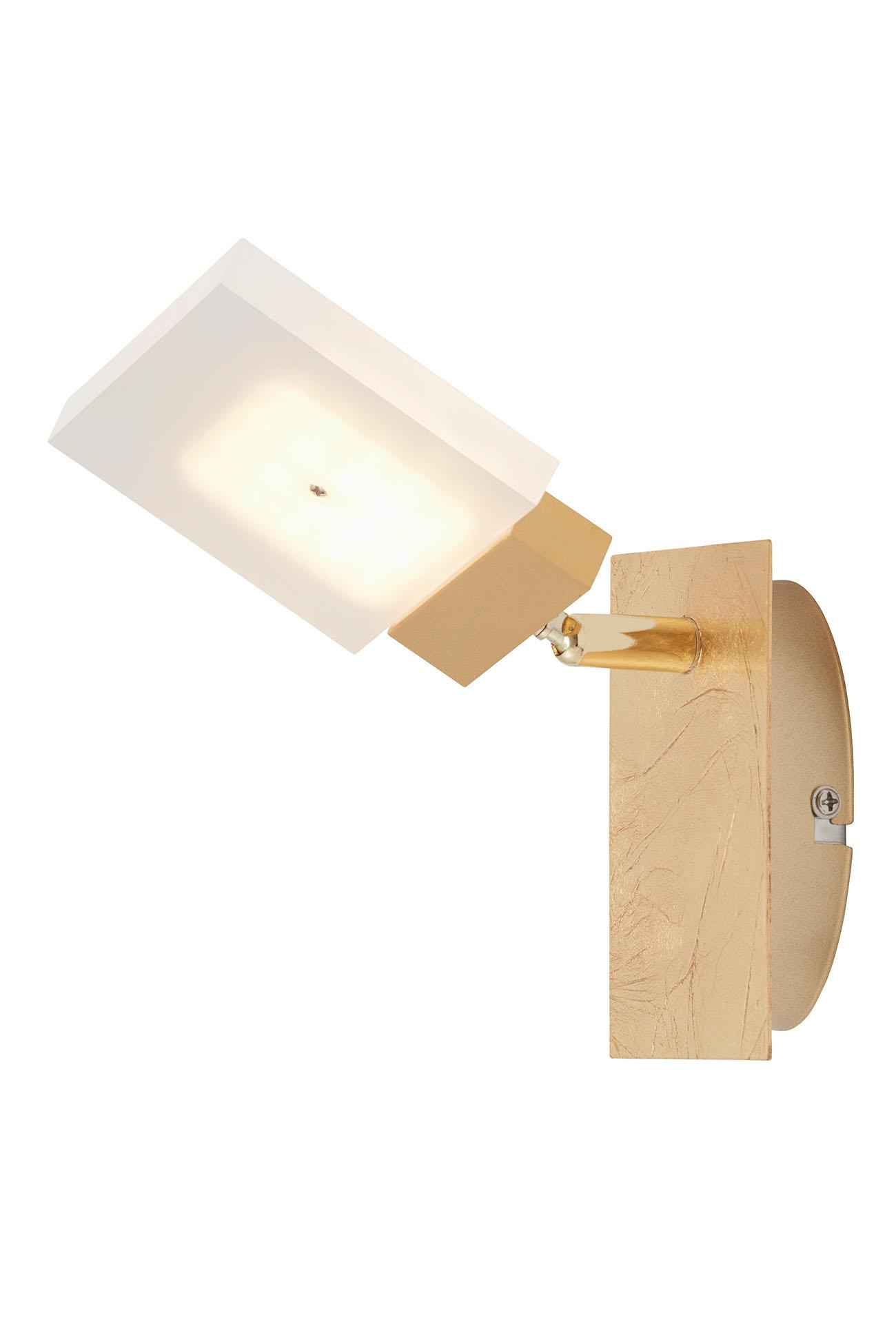 LED Spot Wandleuchte, 12 cm, 4,5 W, Gold