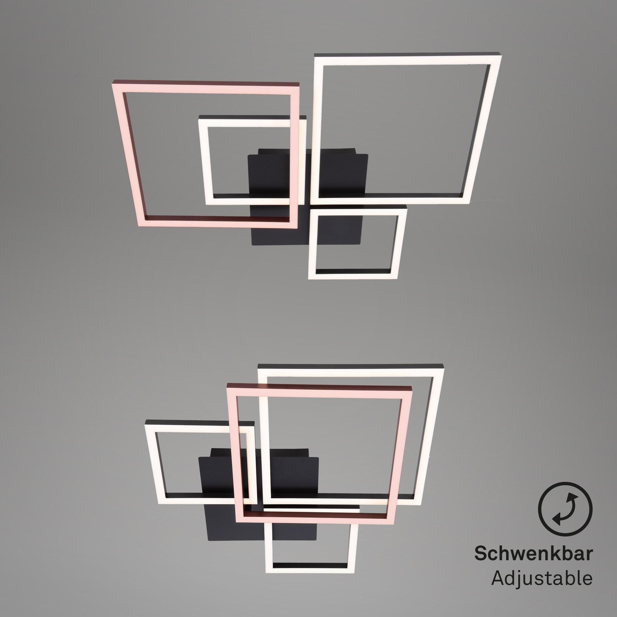 LED Deckenleuchte, 75 cm, 48 W, Schwarz