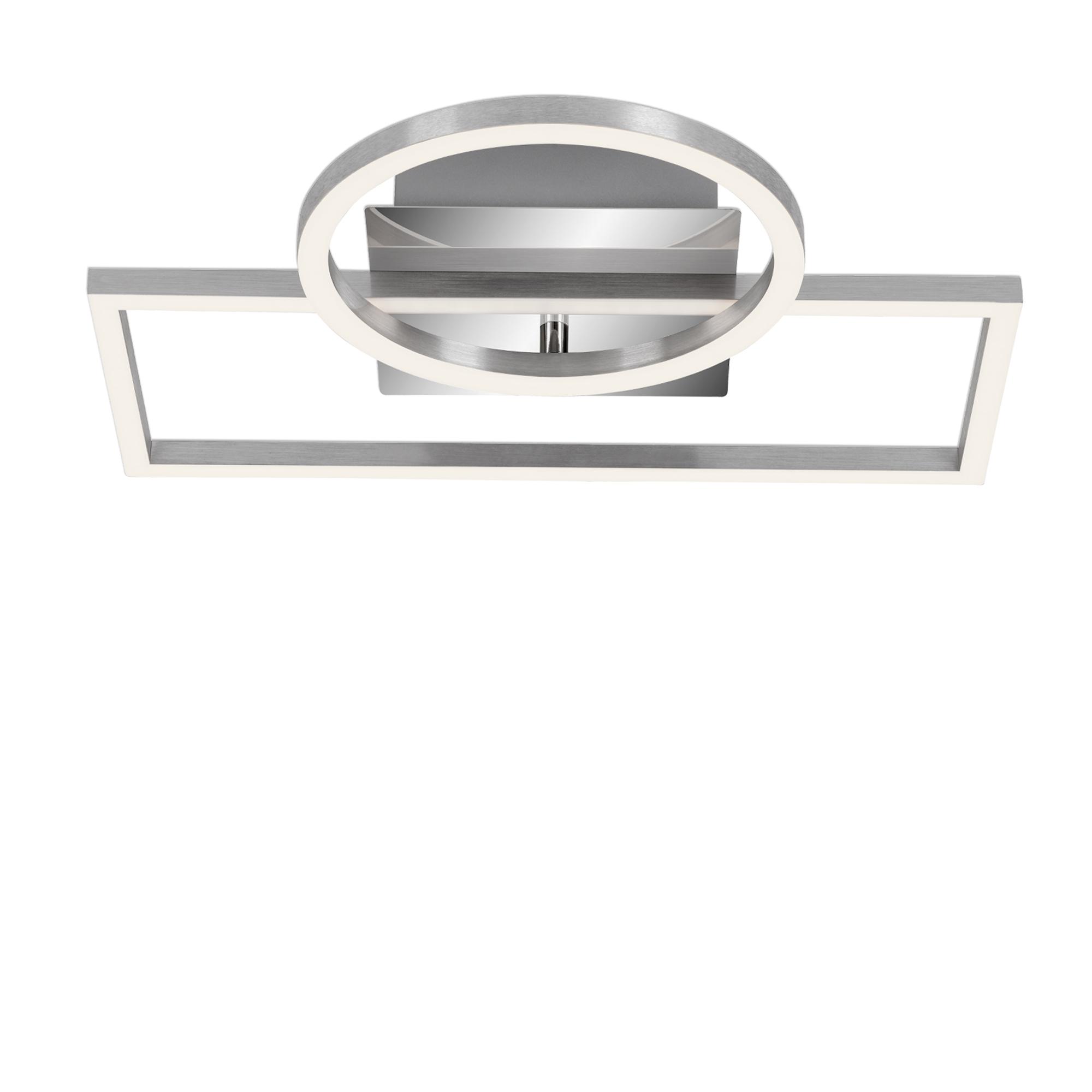 LED Deckenleuchte, 31 cm, 19,6 W, Alu-Chrom