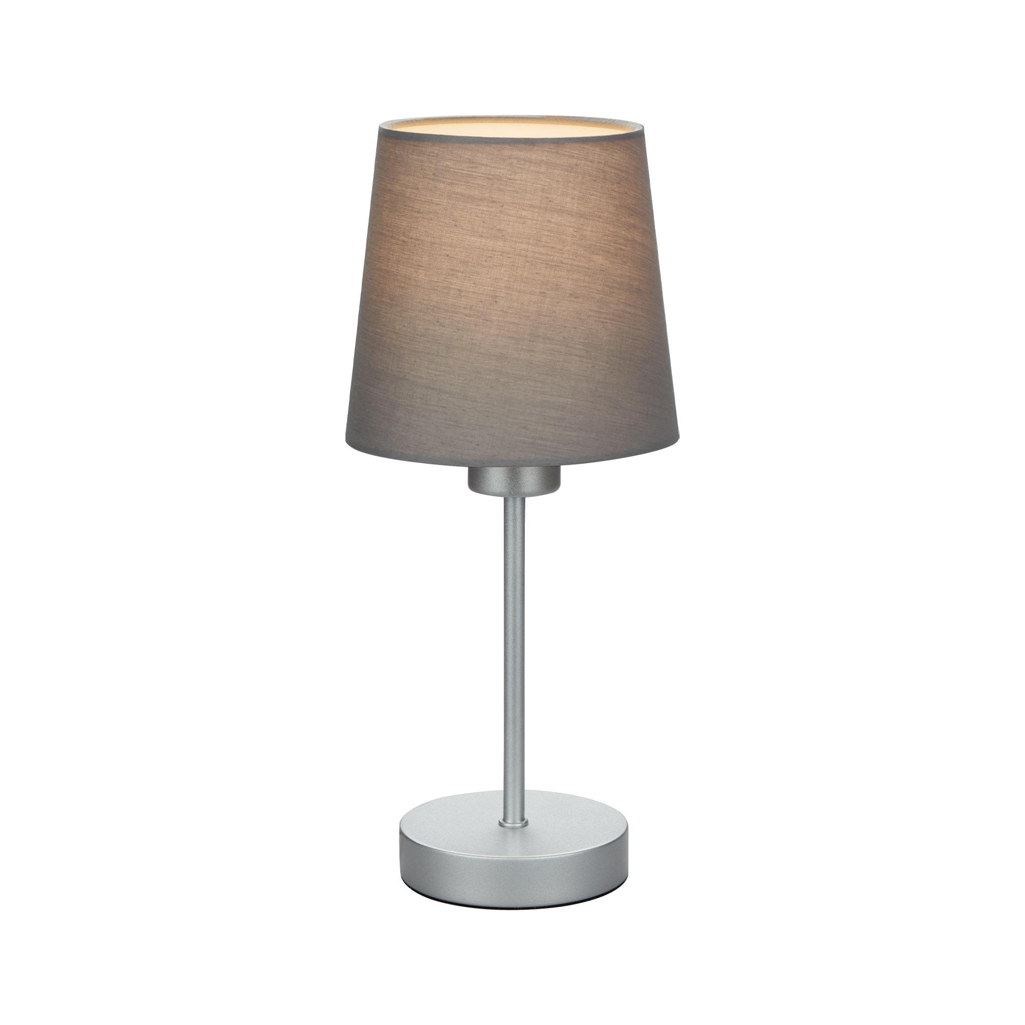 Tischleuchte, 31,4 cm, max. 25 W, Grau-Silber