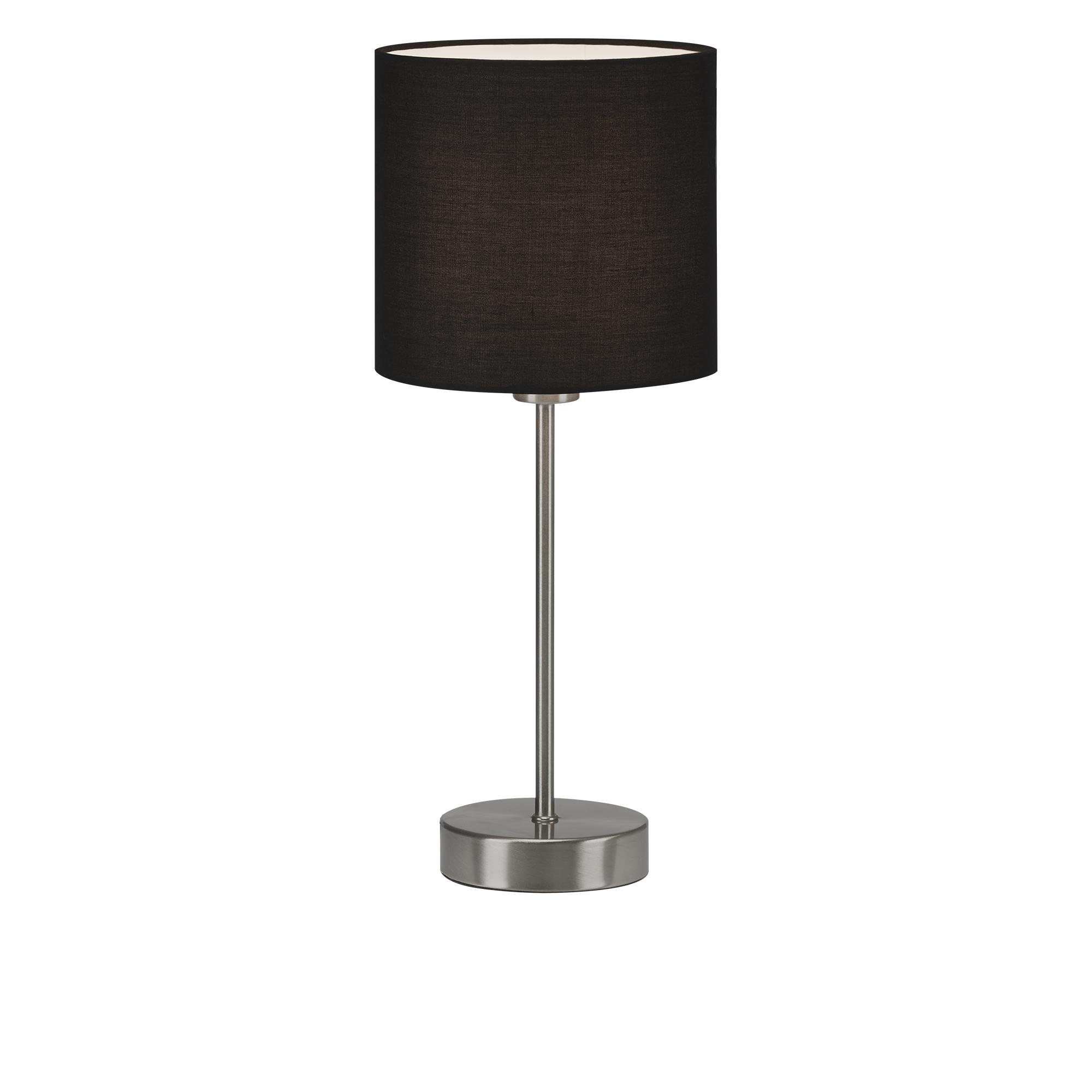 Tischleuchte, max. 25 W, 38,5 cm, Schwarz