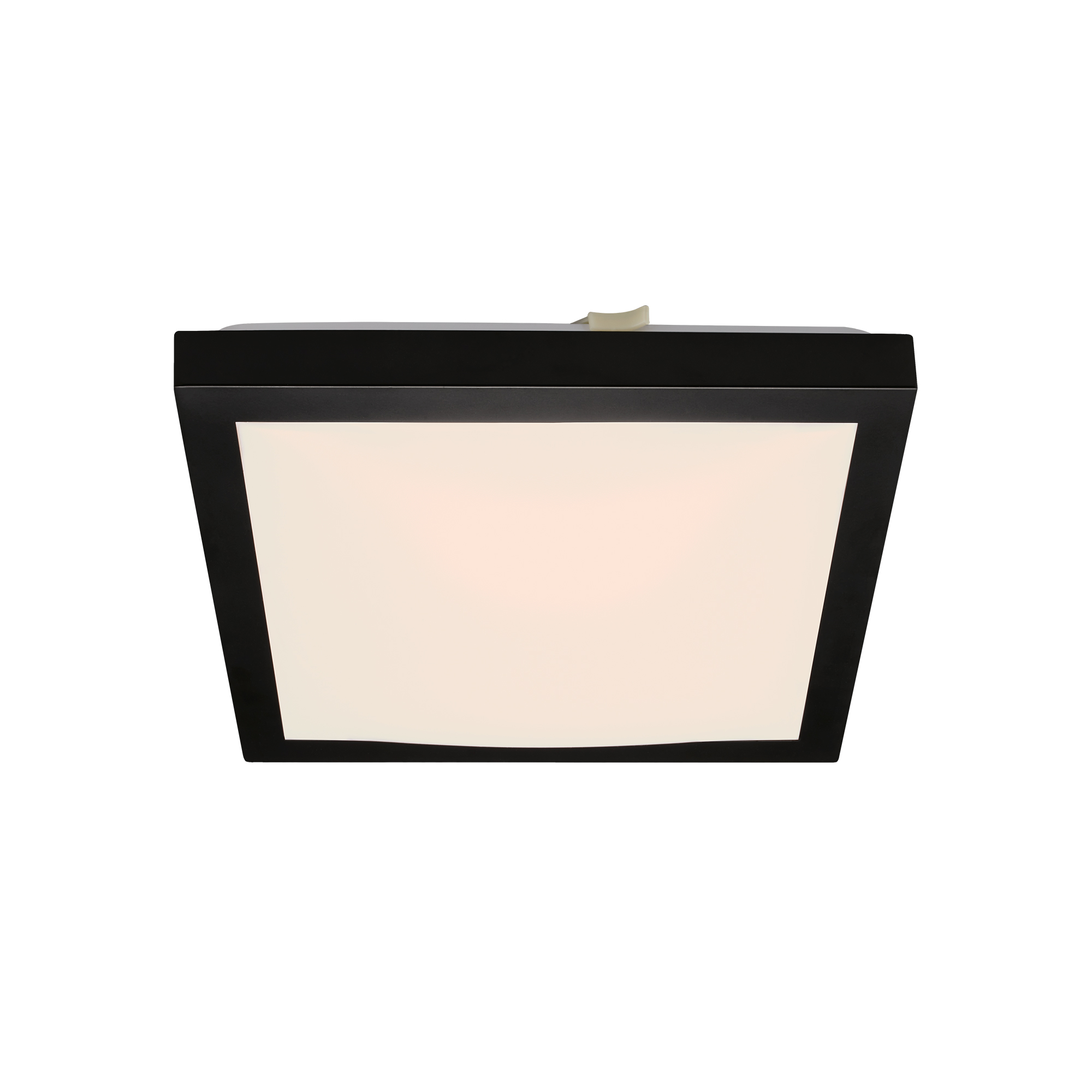 LED Deckenleuchte, 27 cm, 12 W, Weiß-Schwarz