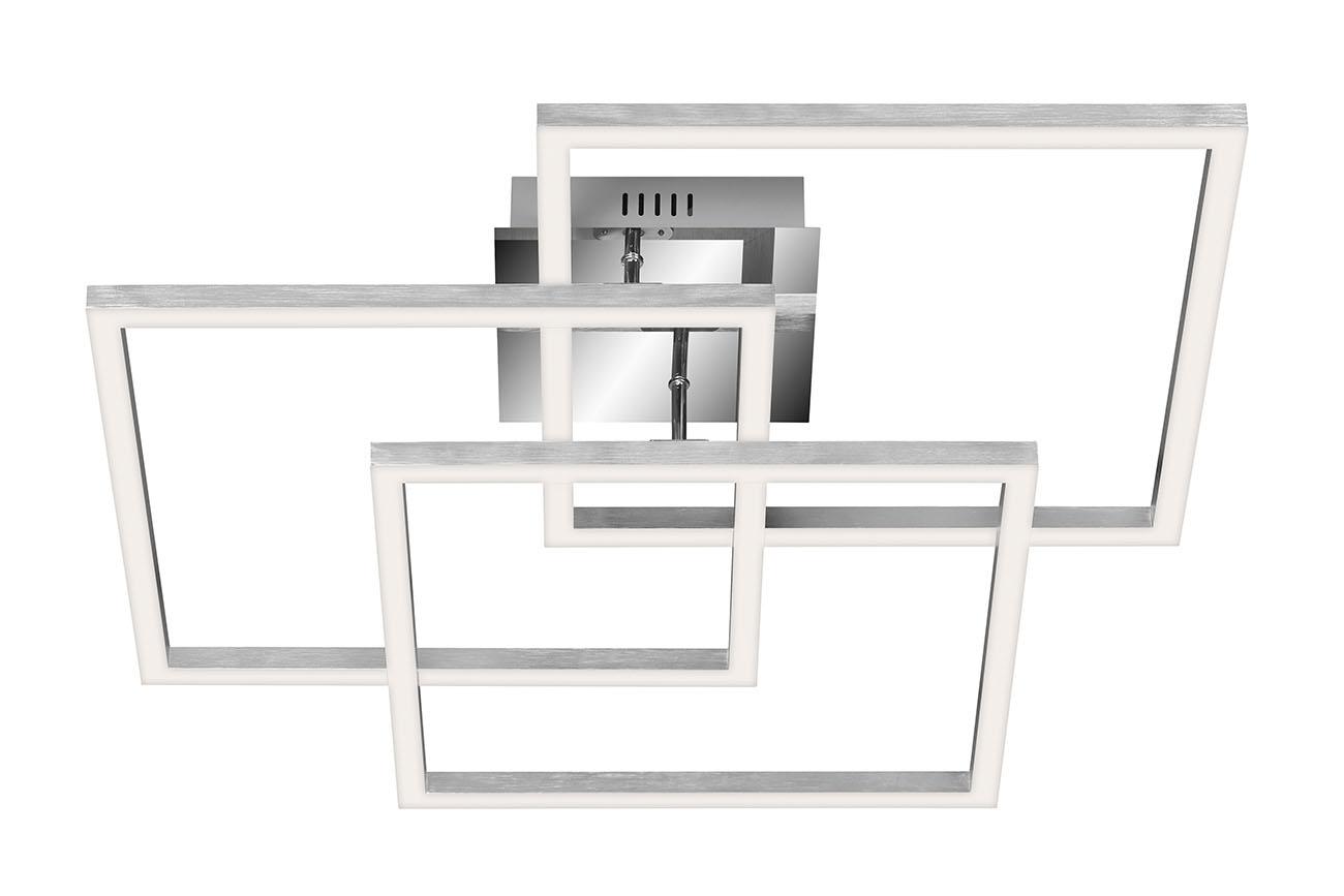 TELEFUNKEN Smart LED Deckenleuchte, 55,5 cm, 40 W, Chrom-Alu