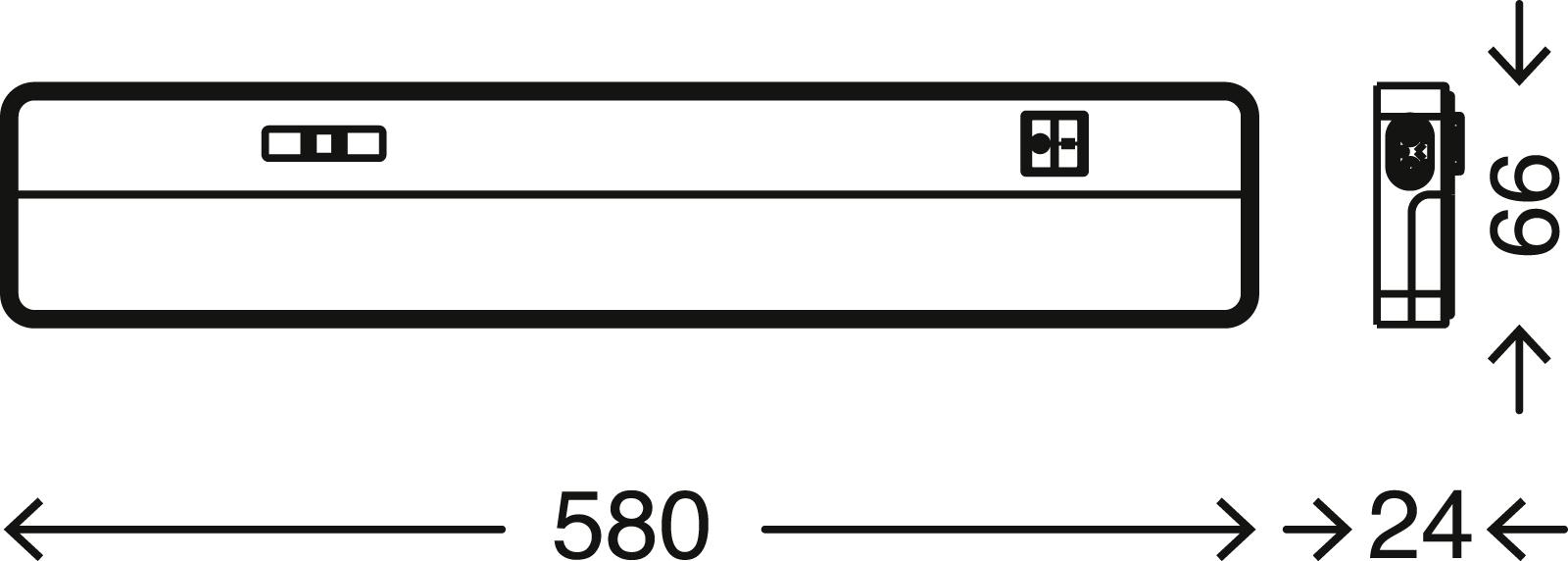 TELEFUNKEN LED Unterbauleuchte, 58 cm, 8,5 W, Weiß