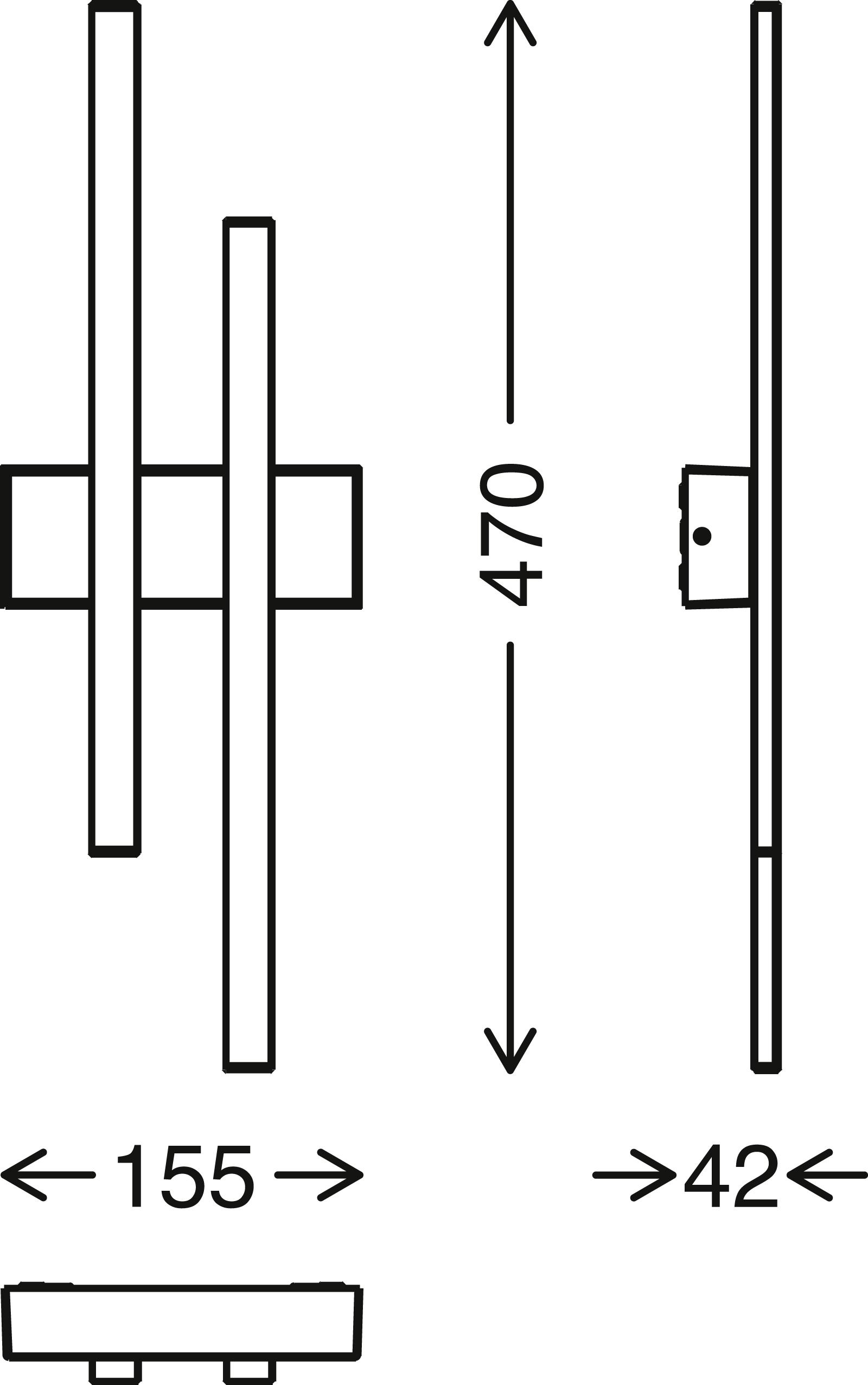 TELEFUNKEN LED Aussenwandleuchte, 47 cm, 8 W, Schwarz