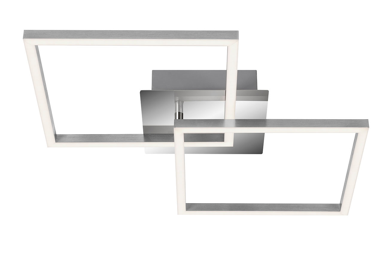 LED Deckenleuchte, 62 cm, 1800 LM, 24 W, Alu-Chrom