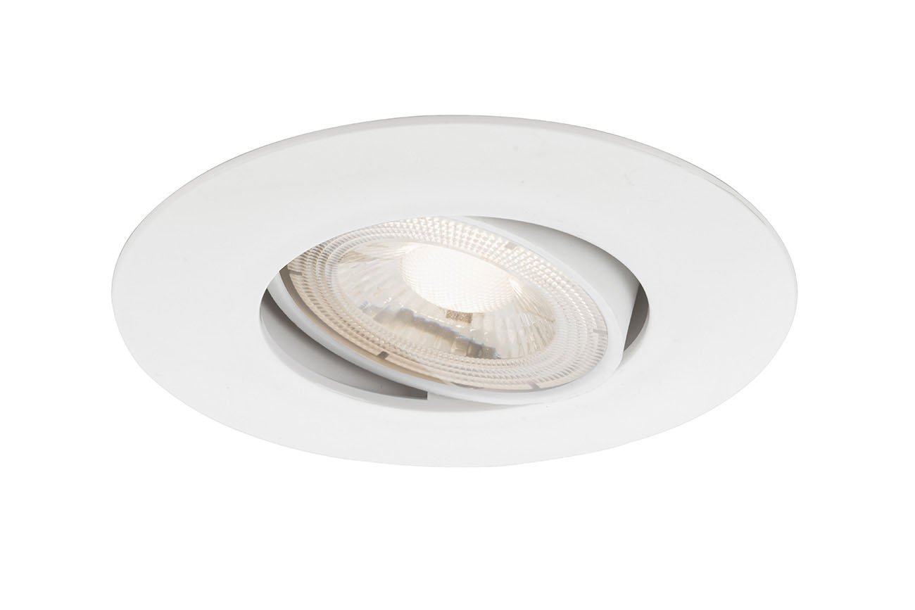 3er Set LED Einbauleuchte, Ø 9 cm, 5 W, Weiß