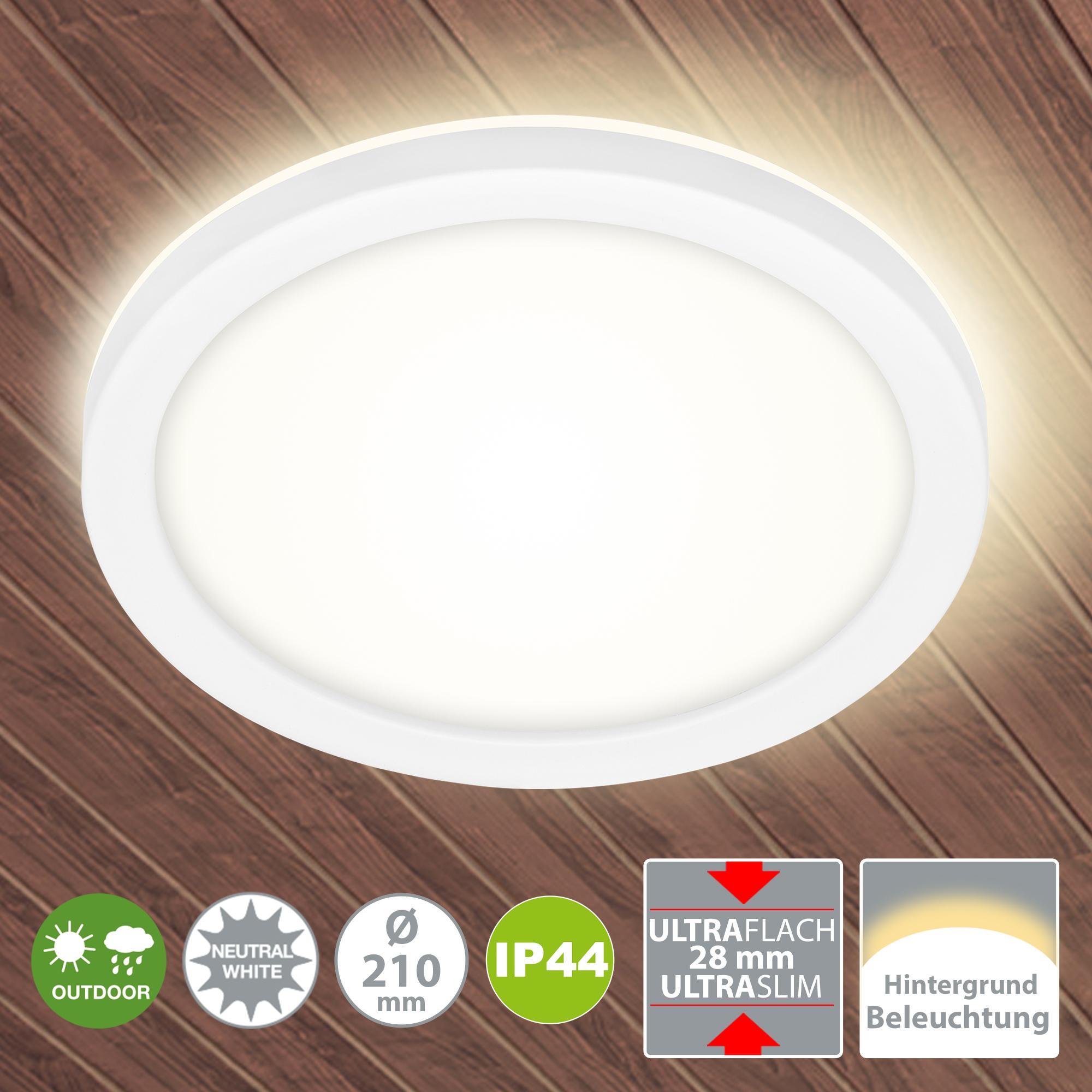 LED Außenleuchte Weiß