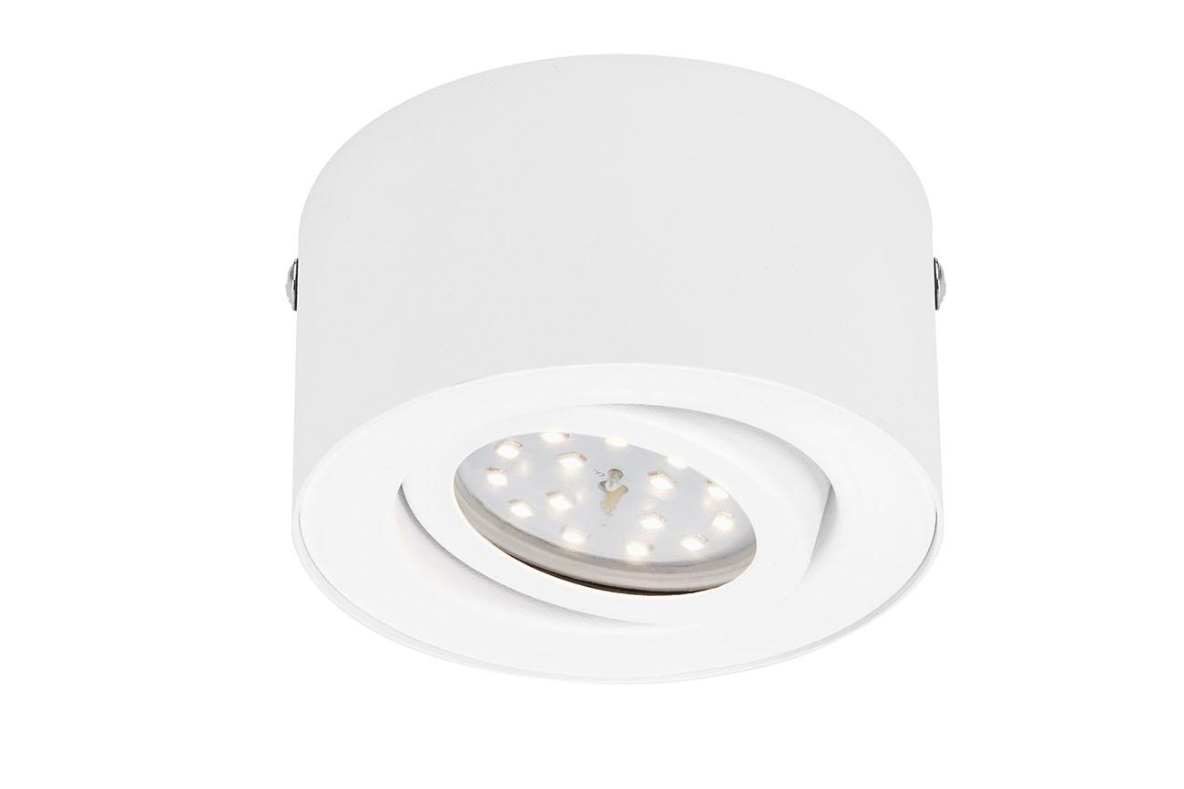 LED Aufbauleuchte, Ø 9 cm, 5 W, Weiss