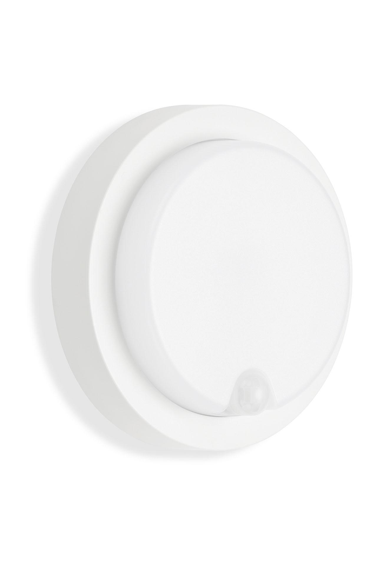 TELEFUNKEN LED Sensor Außenwandleuchte, Ø 17 cm, 12 W, Weiß