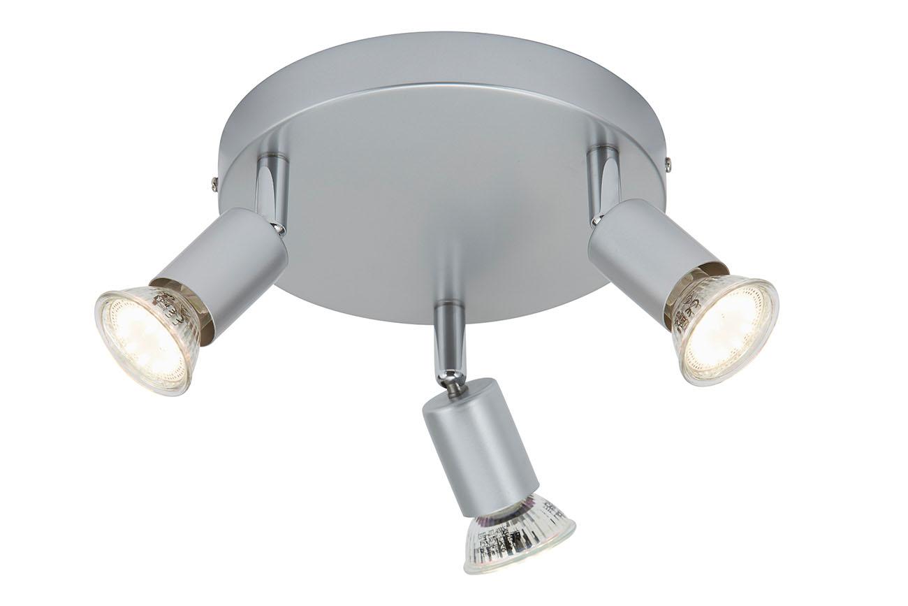 LED Spt Deckenleuchte, Ø 16 cm, 9 W, Titan