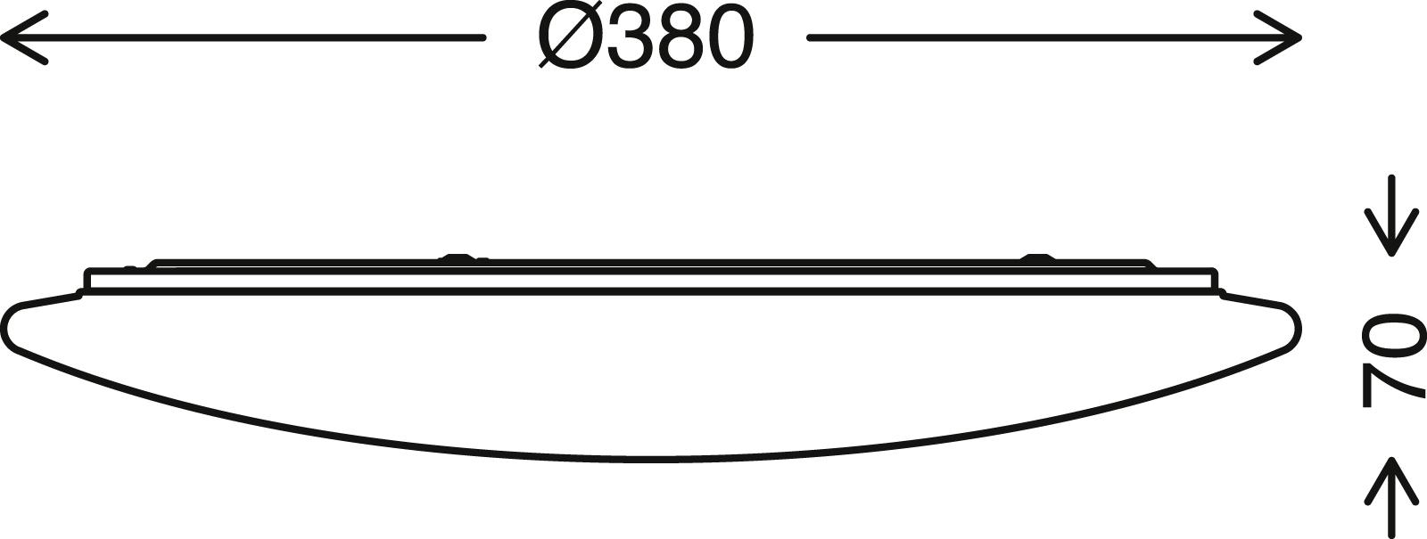 TELEFUNKEN Sensor LED Deckenleuchte, Ø 37,7 cm, 24 W, Weiss
