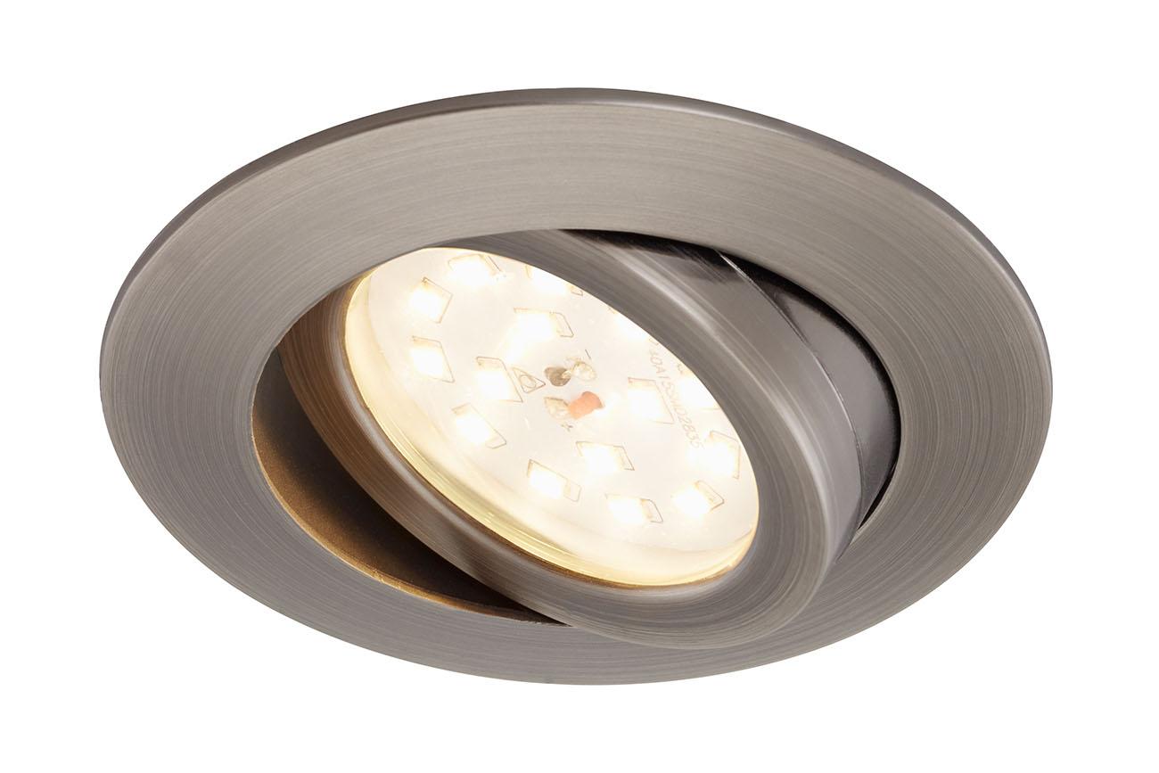 LED Einbauleuchte, Ø 8,2 cm, 6,5 W, Silber