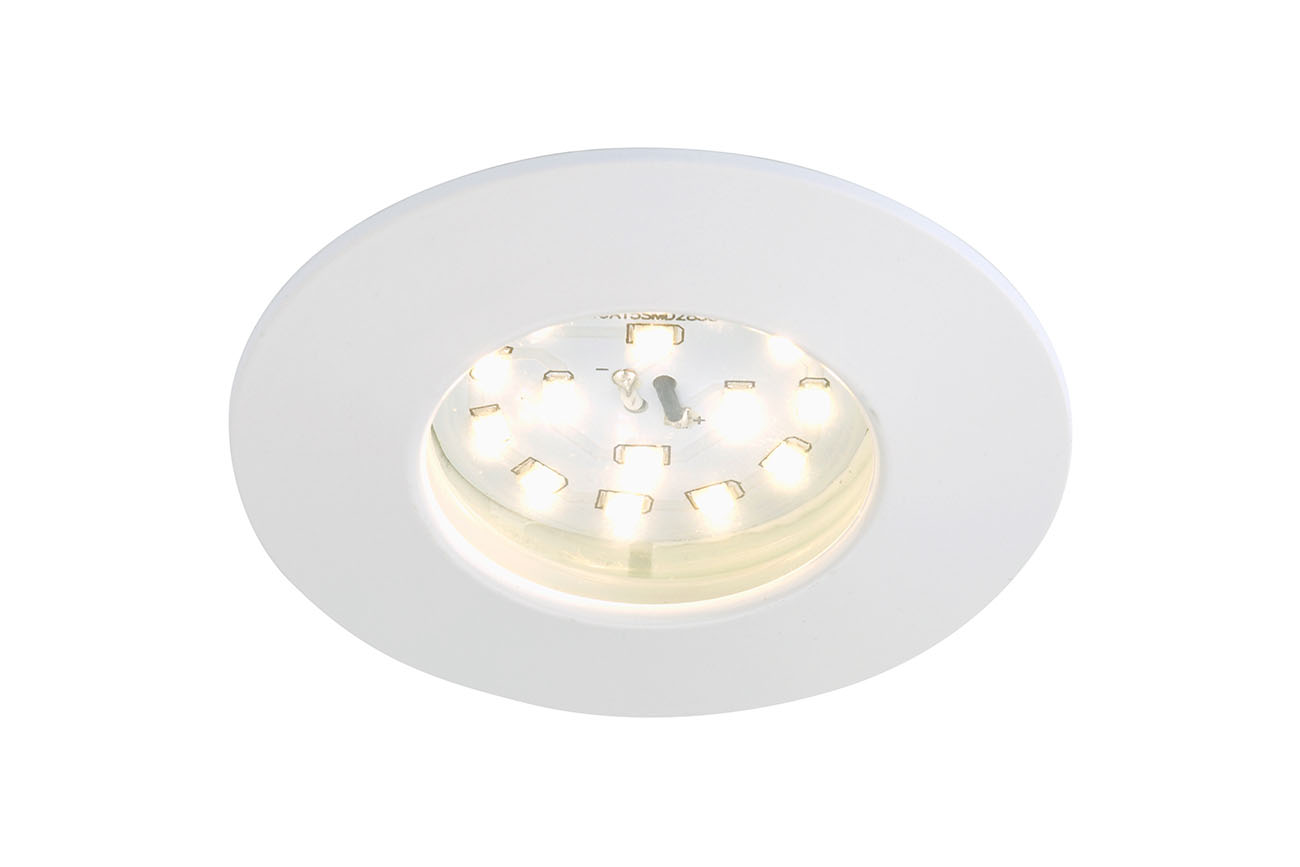 LED Einbauleuchte, Ø 7,5 cm, Weiss
