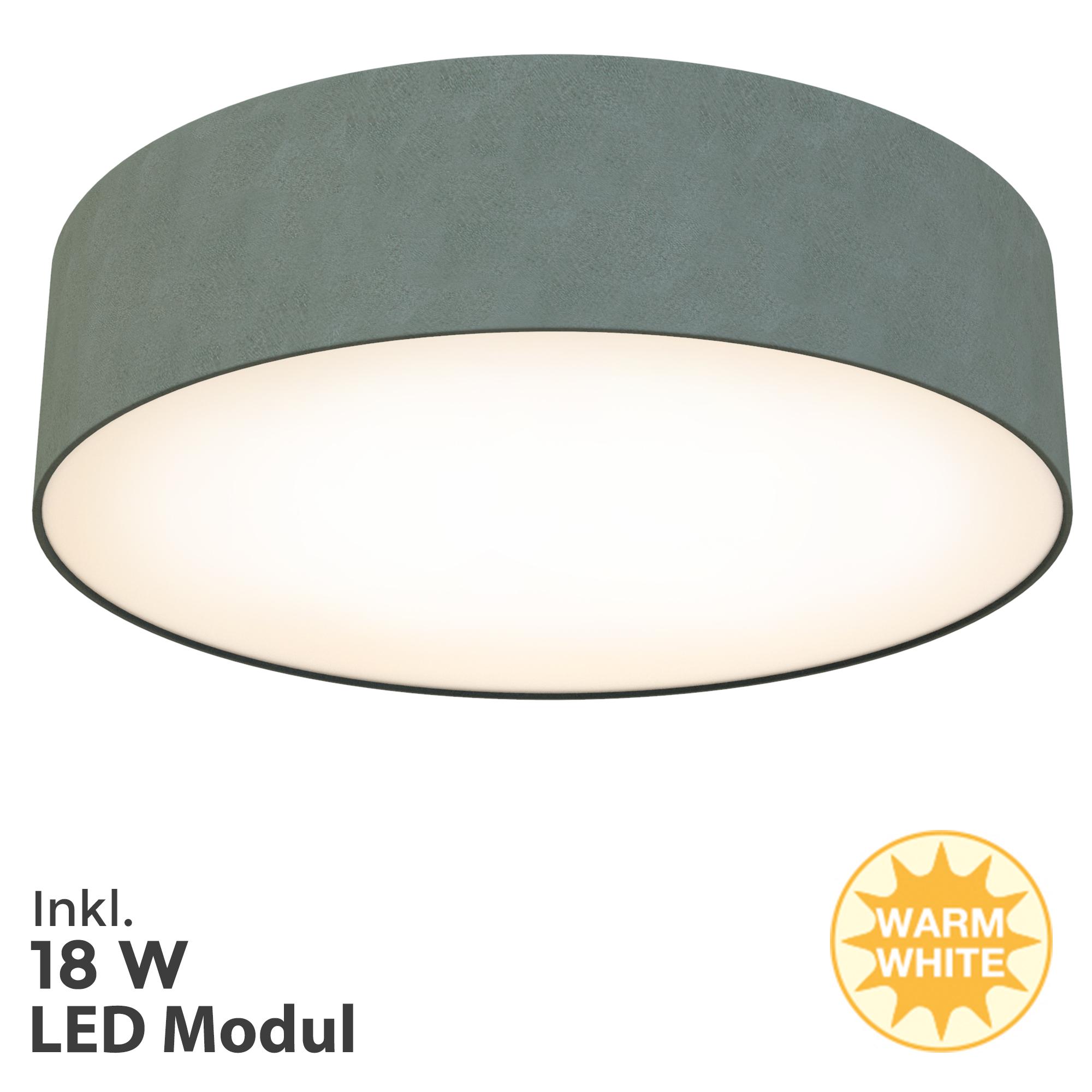 LED Deckenleuchte Grau
