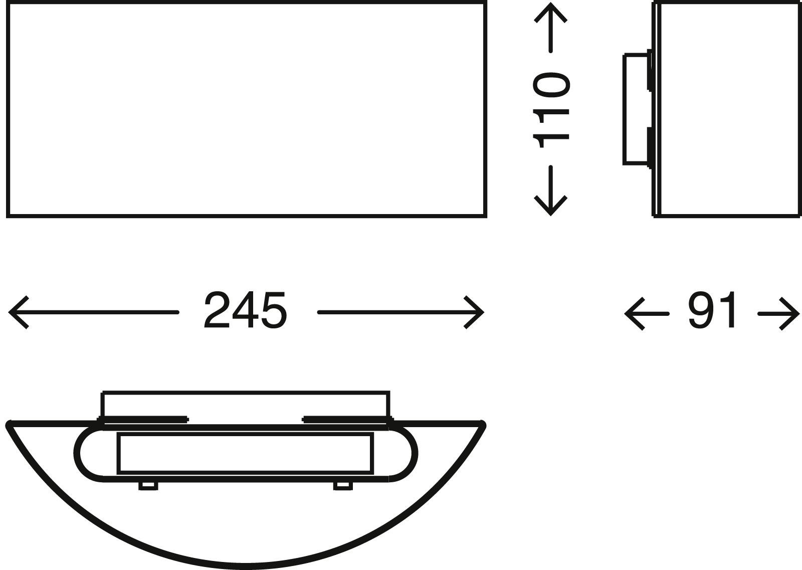 TELEFUNKEN LED Aussenwandleuchte, 24,5 cm, 8 W, Anthrazit