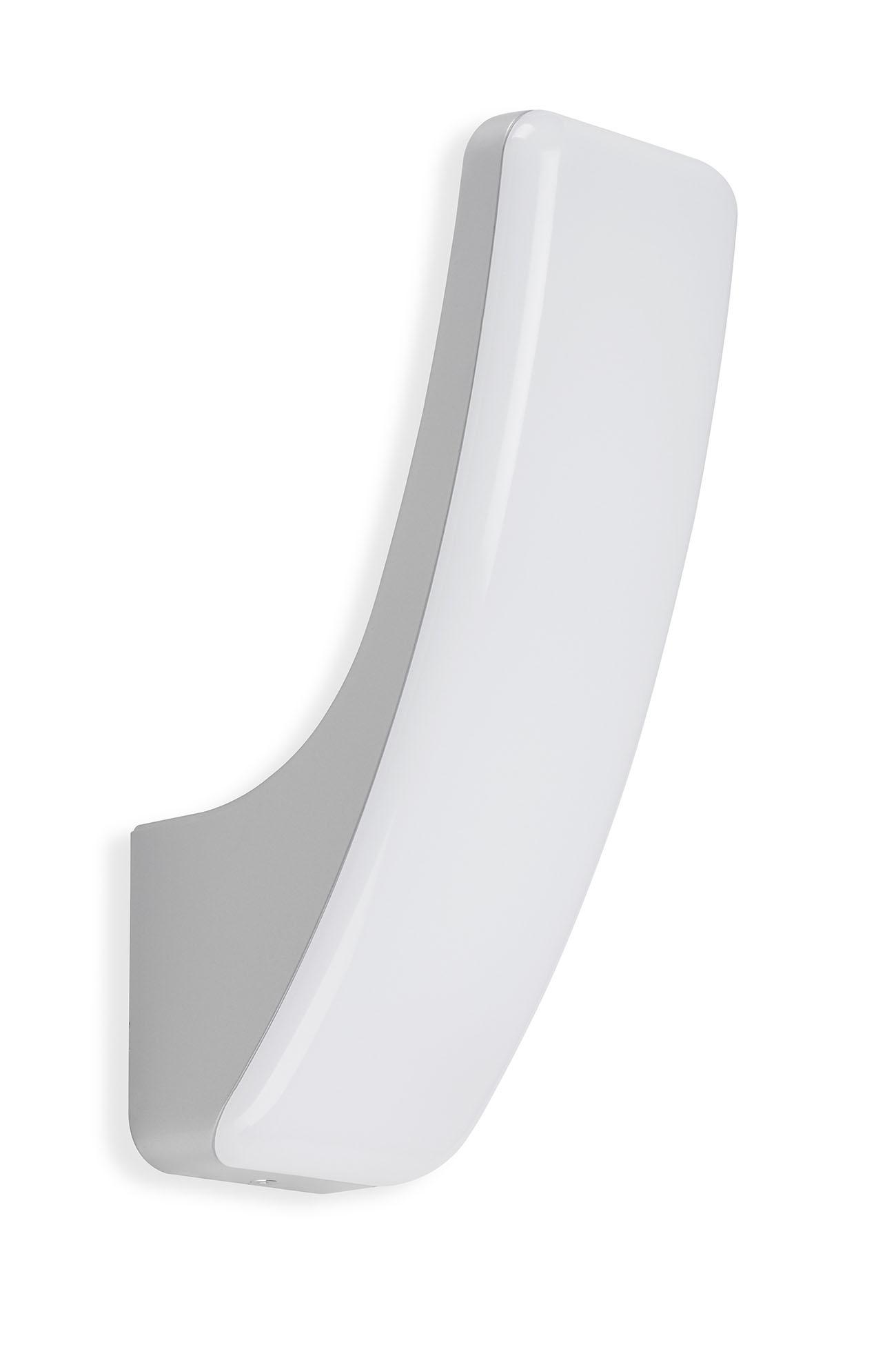 TELEFUNKEN LED Aussenwandleuchte, 33,2 cm, 15 W, Silber