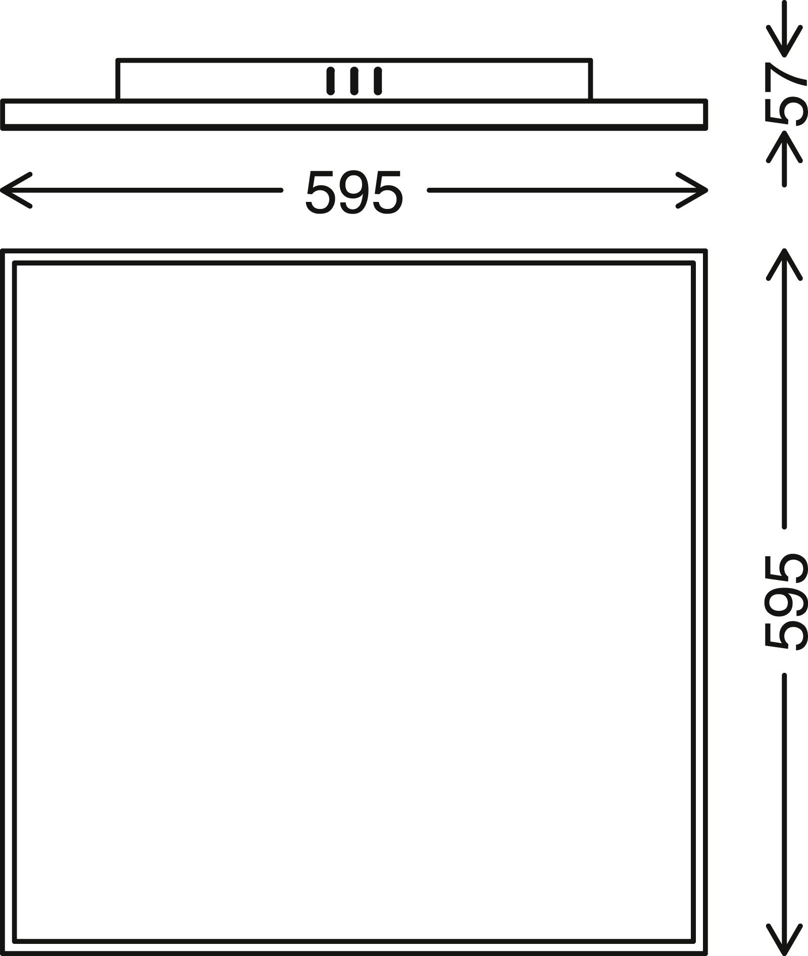 FRAMELESS LED Panel, 56,5 cm, 4500 LUMEN, 40 WATT, Weiß