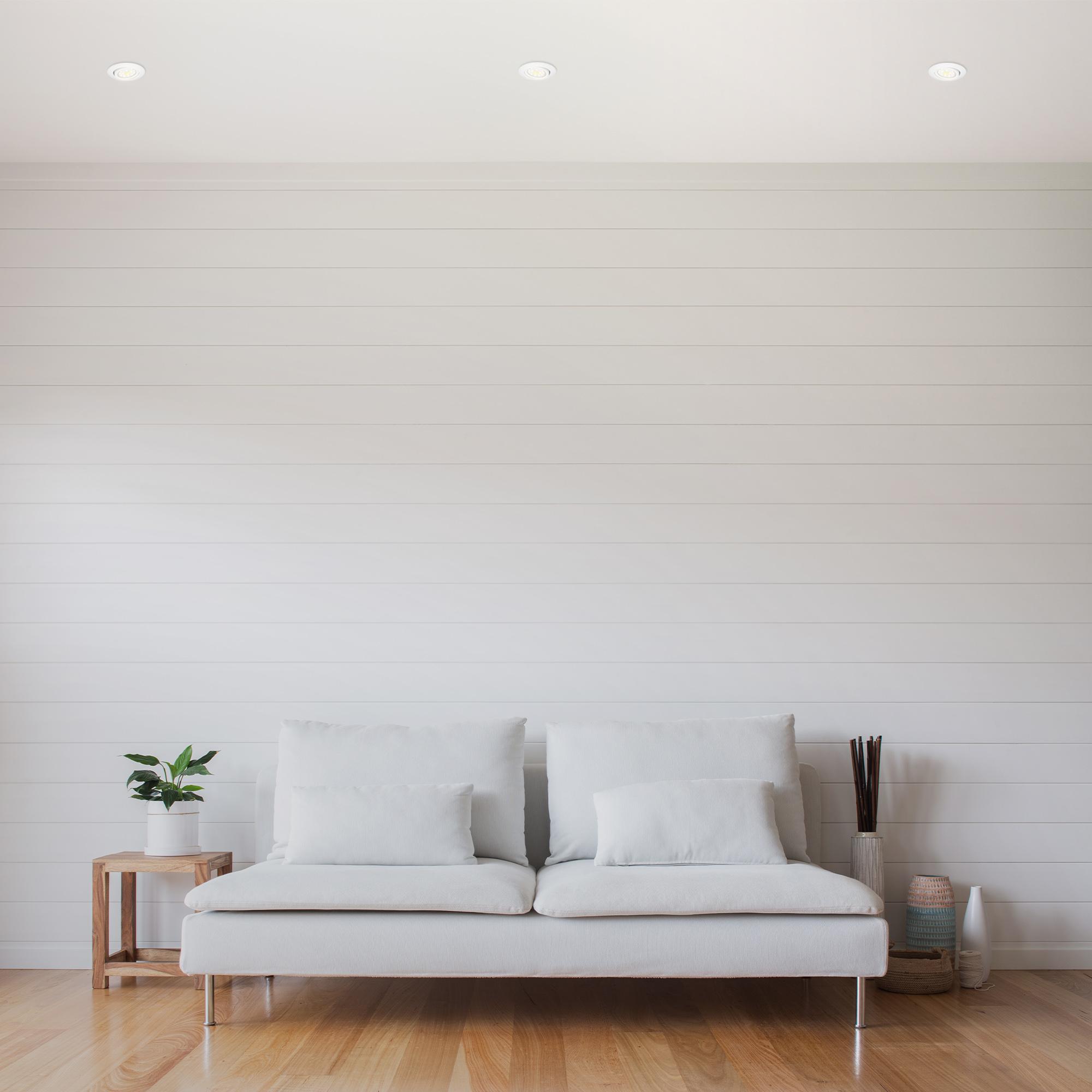 3er Set LED Einbauleuchte, Ø 8,2 cm, 3,5 W, Weiß