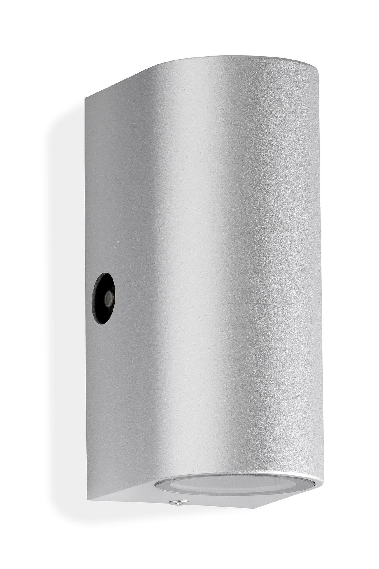 TELEFUNKEN LED Sensor Außenwandleuchte, 15,1 cm, 10 W, Silber