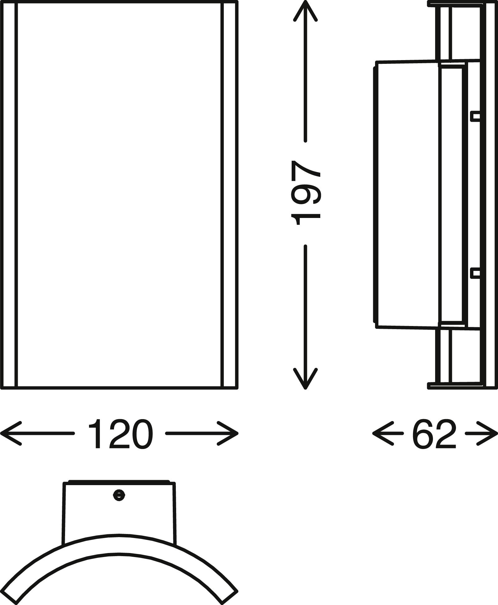 TELEFUNKEN LED Aussenwandleuchte, 19,7 cm, 12 W, Schwar