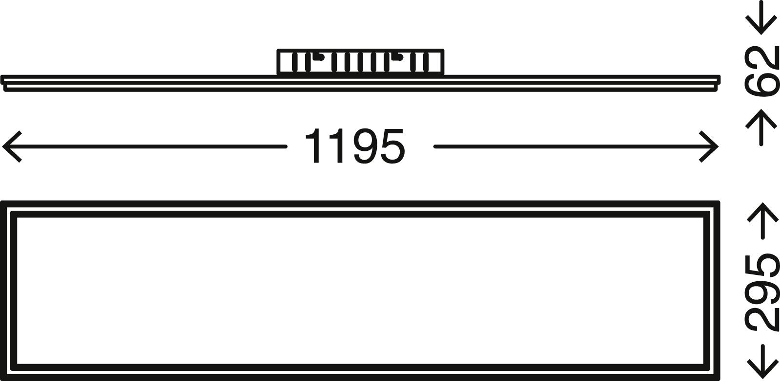 Double LED Panel, 119,5 cm, 3800 LUMEN, 36 WATT, Weiss