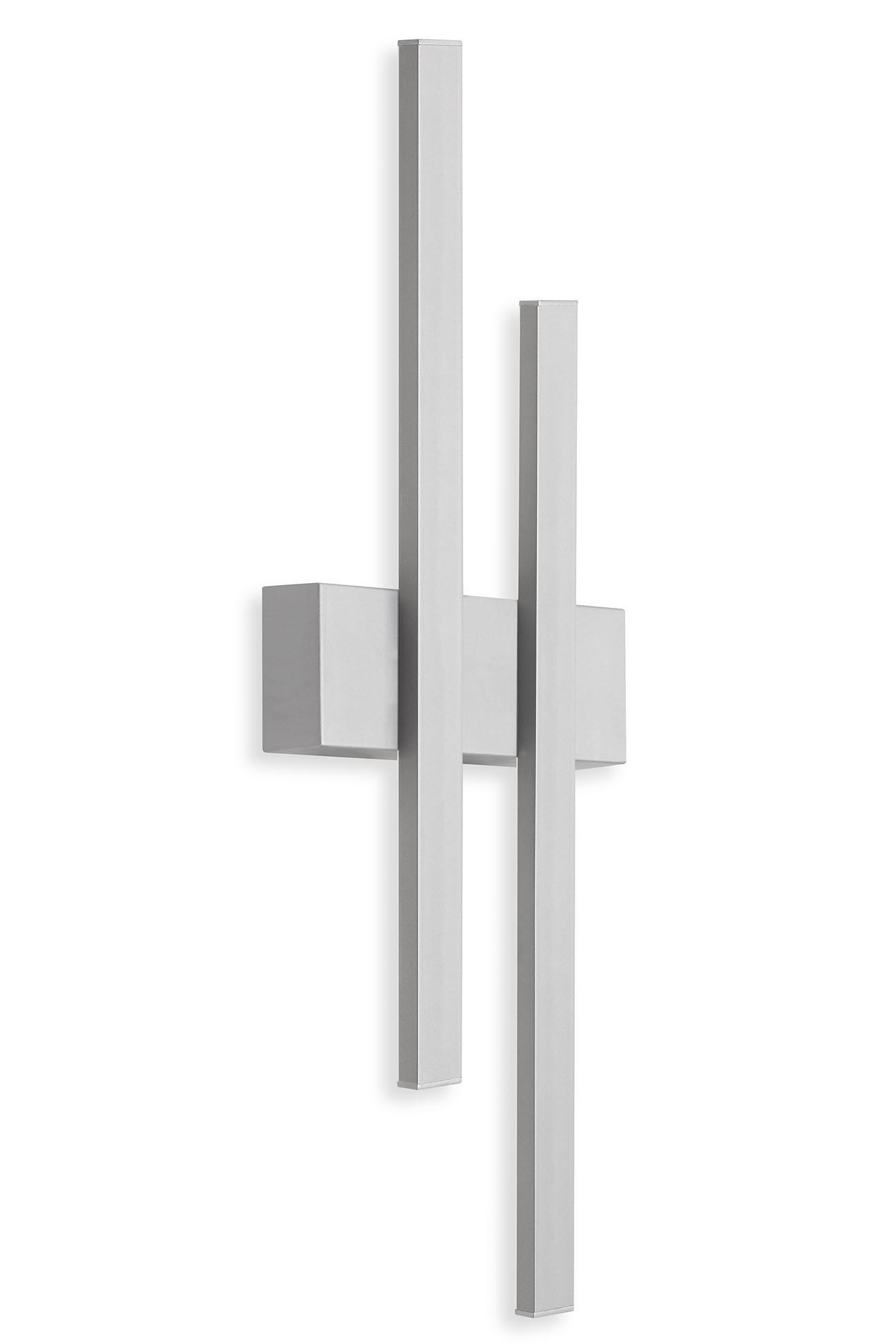 TELEFUNKEN LED Aussenwandleuchte, 47 cm, 8 W, Silber