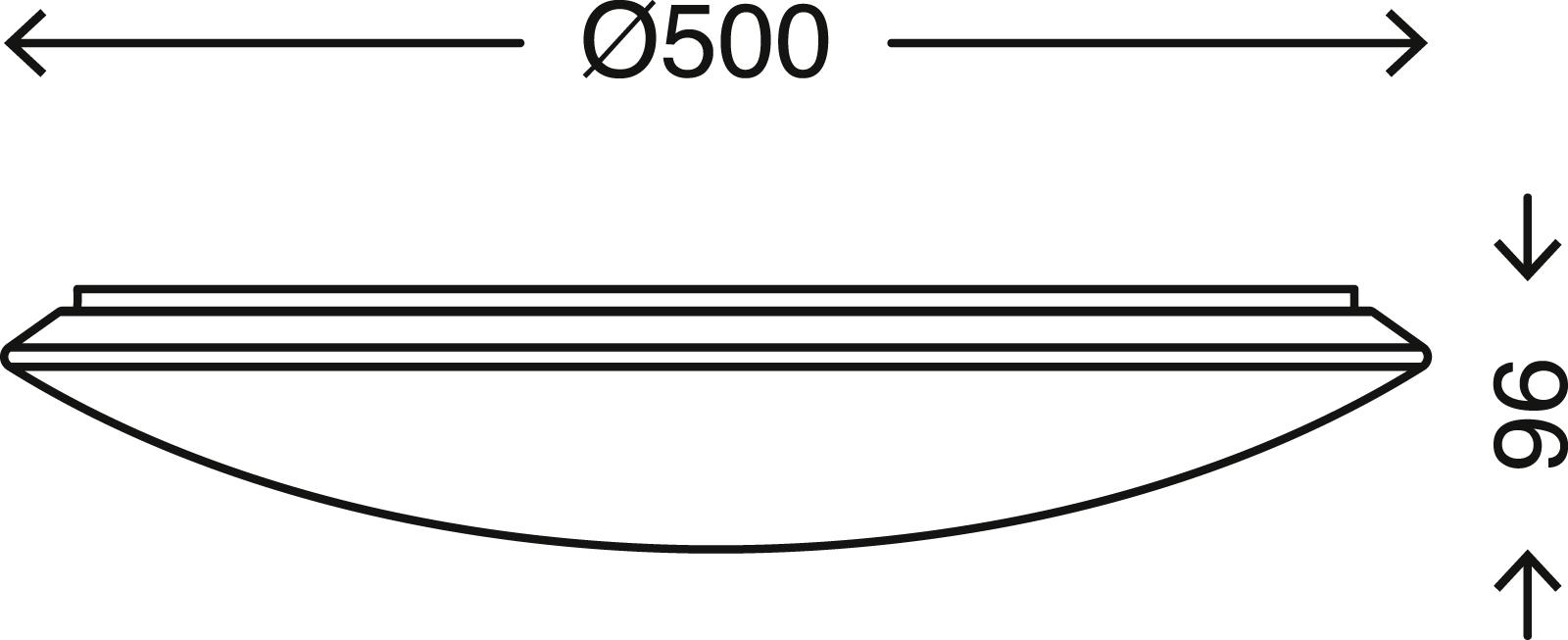 TELEFUNKEN Smart LED Deckenleuchte, Ø 50 cm, 40 W,Weiss