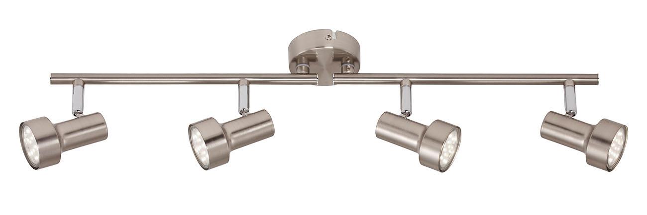 LED Spot Deckenleuchte, 60,4 cm, 12 W, Matt-Nickel