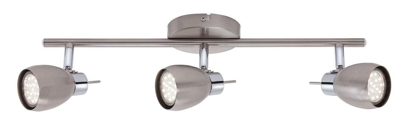 LED Spot Deckenleuchte, 45,5 cm, 9 W, Matt-Nickel