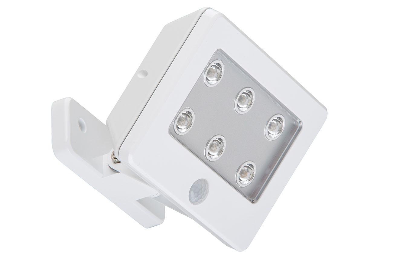Sensor LED Außenleuchte, 12 cm, 0,36 W, Weiß