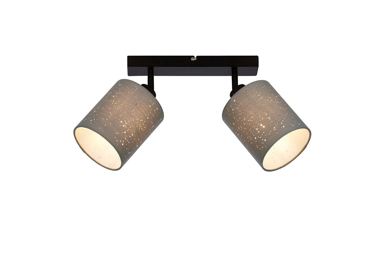 LED Spot Deckenleucht, 28,5 cm, max. 25 W, Grau-Schwarz