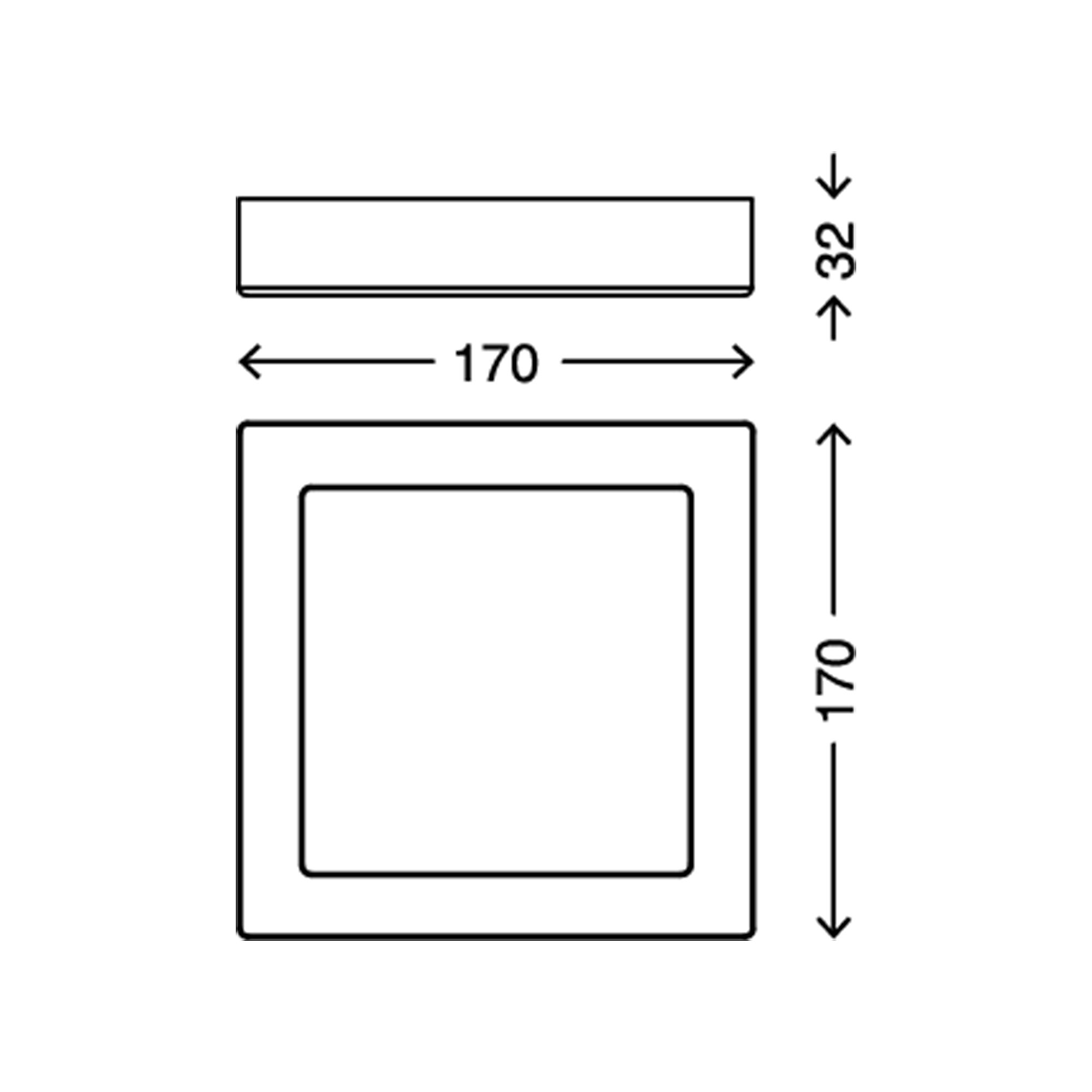 LED Deckenleuchte, 17 cm, 12 W, Weiß