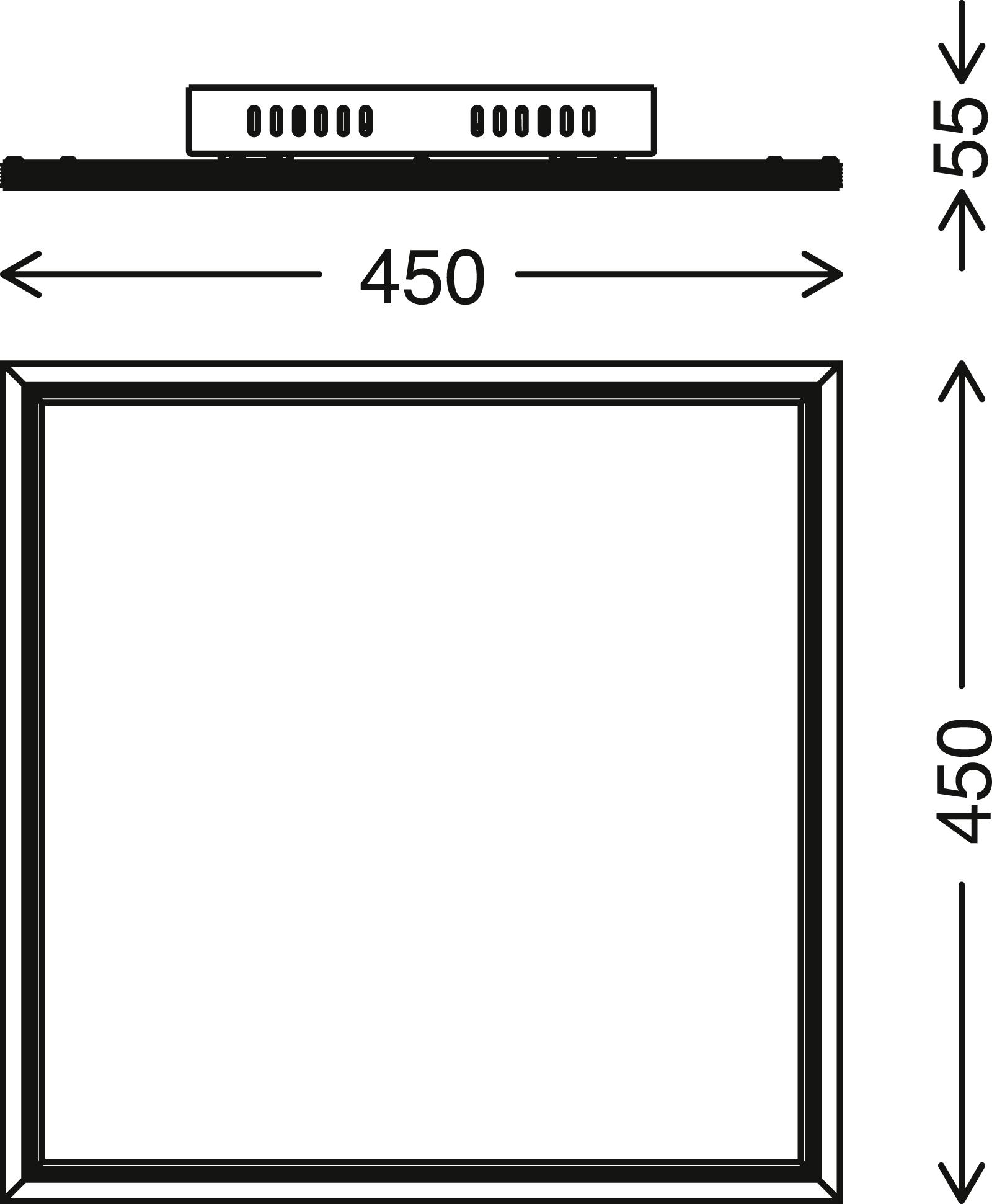 TELEFUNKEN RGB LED Panel, 45 cm, 24 W, Weiß