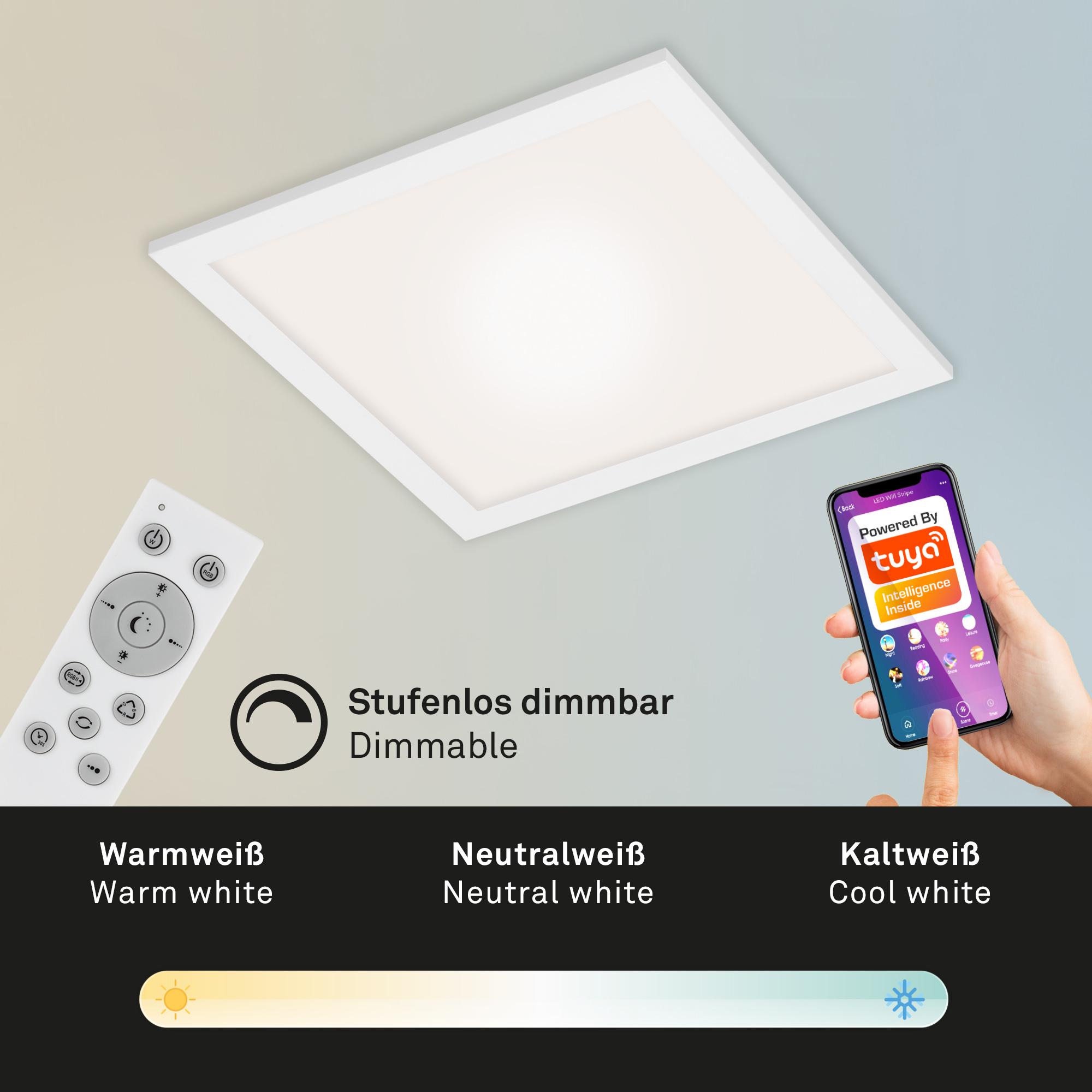 Smart CCT RGB Panel Weiß