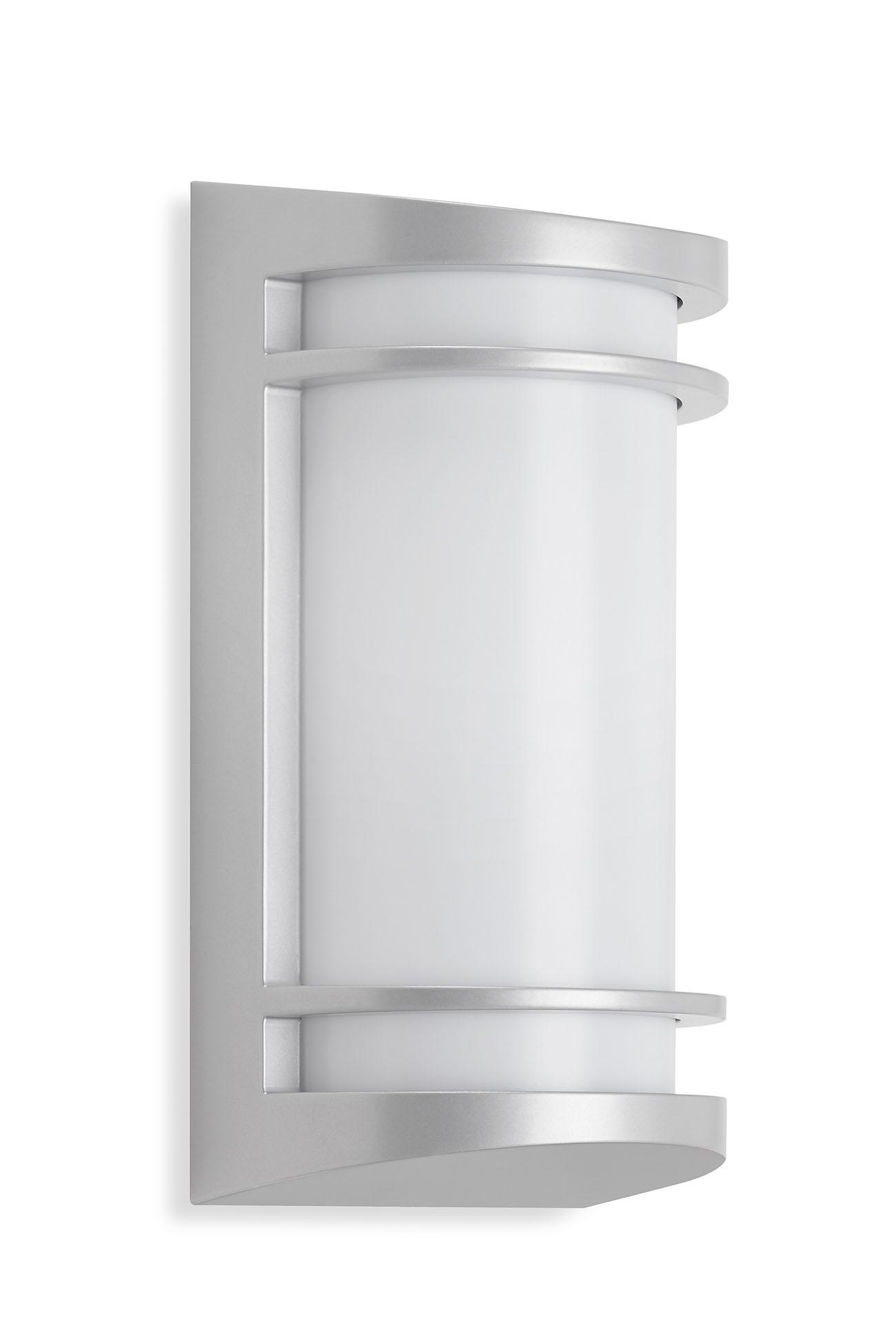 TELEFUNKEN LED Außenwandleuchte, 14 cm, 10 W, Silber