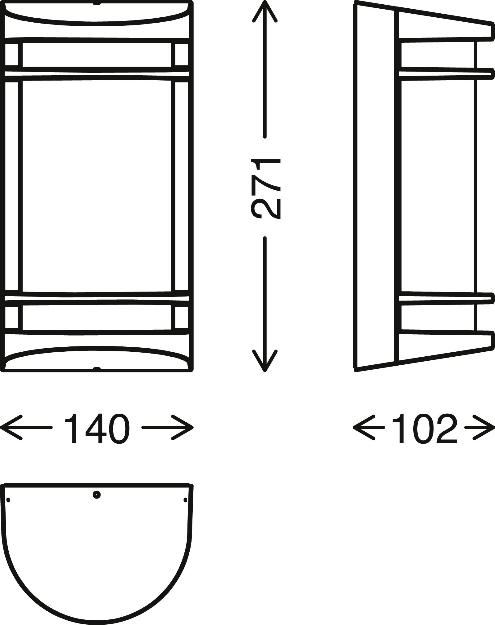TELEFUNKEN LED Aussenwandleuchte, 14 cm, 10 W, Weiss