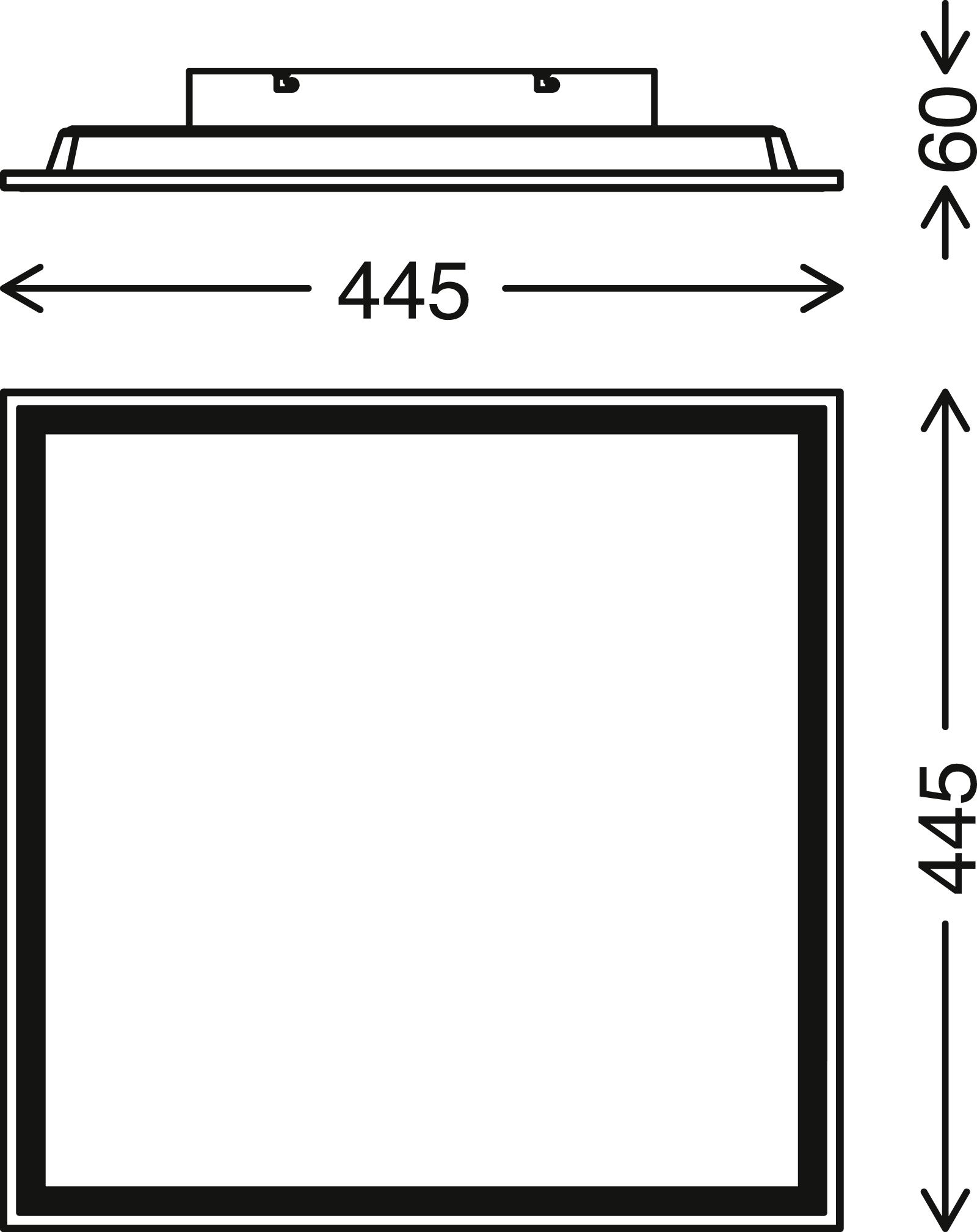 LED Panel, 45 cm, 2400 LUMEN, 24 WATT, Weiss