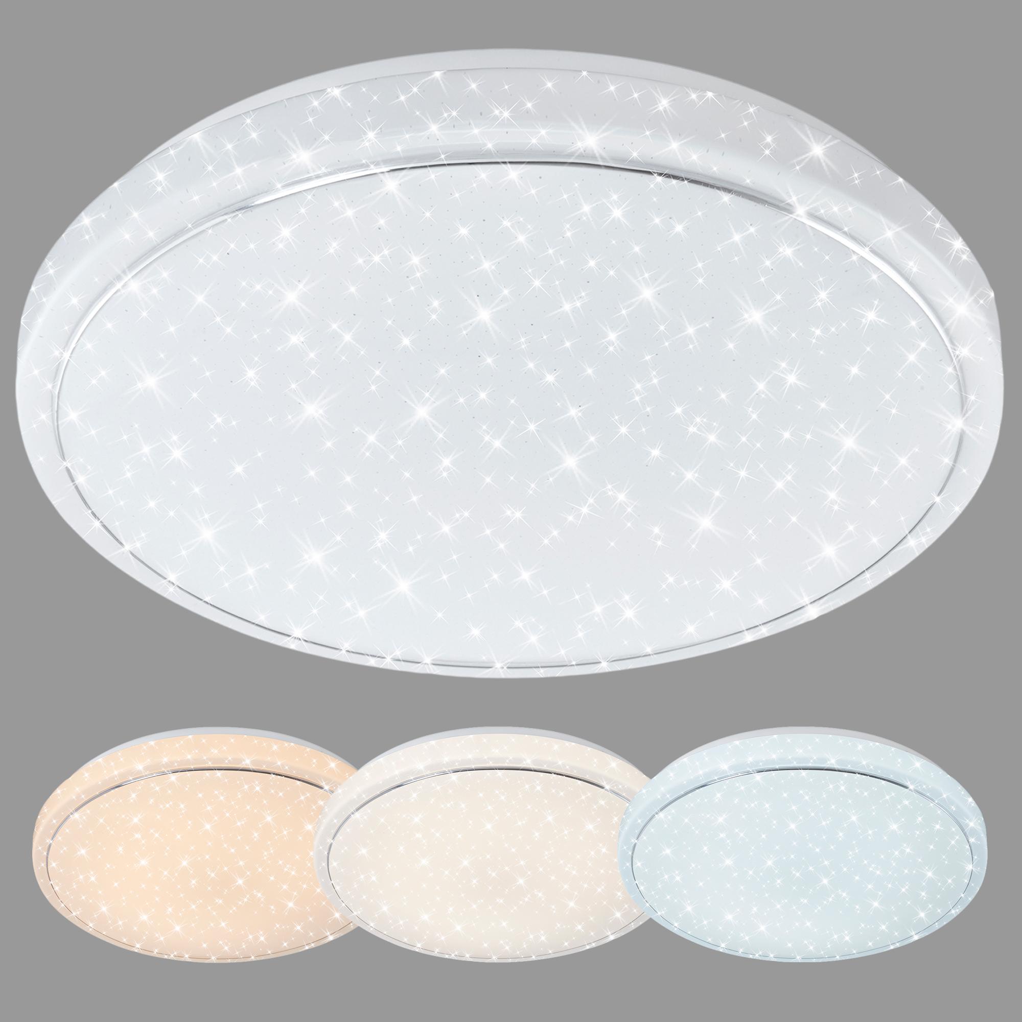STERNENHIMMEL LED Deckenleuchte, Ø 38 cm, 23 W, Weiss