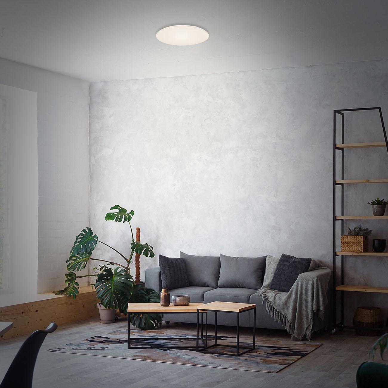 LED Deckenleuchte, Ø 53 cm, 48 W, Weiß